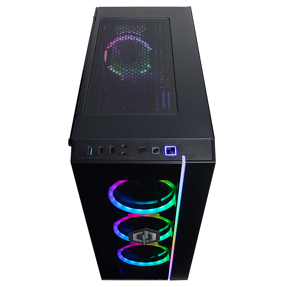 Alt View Zoom 4. CyberPowerPC Gamer Xtreme Gaming Desktop- Intel Core i7-10700K -16G RAM- GeForce GTX 1650 S- 1T HDD+ 500G SSD- Black.