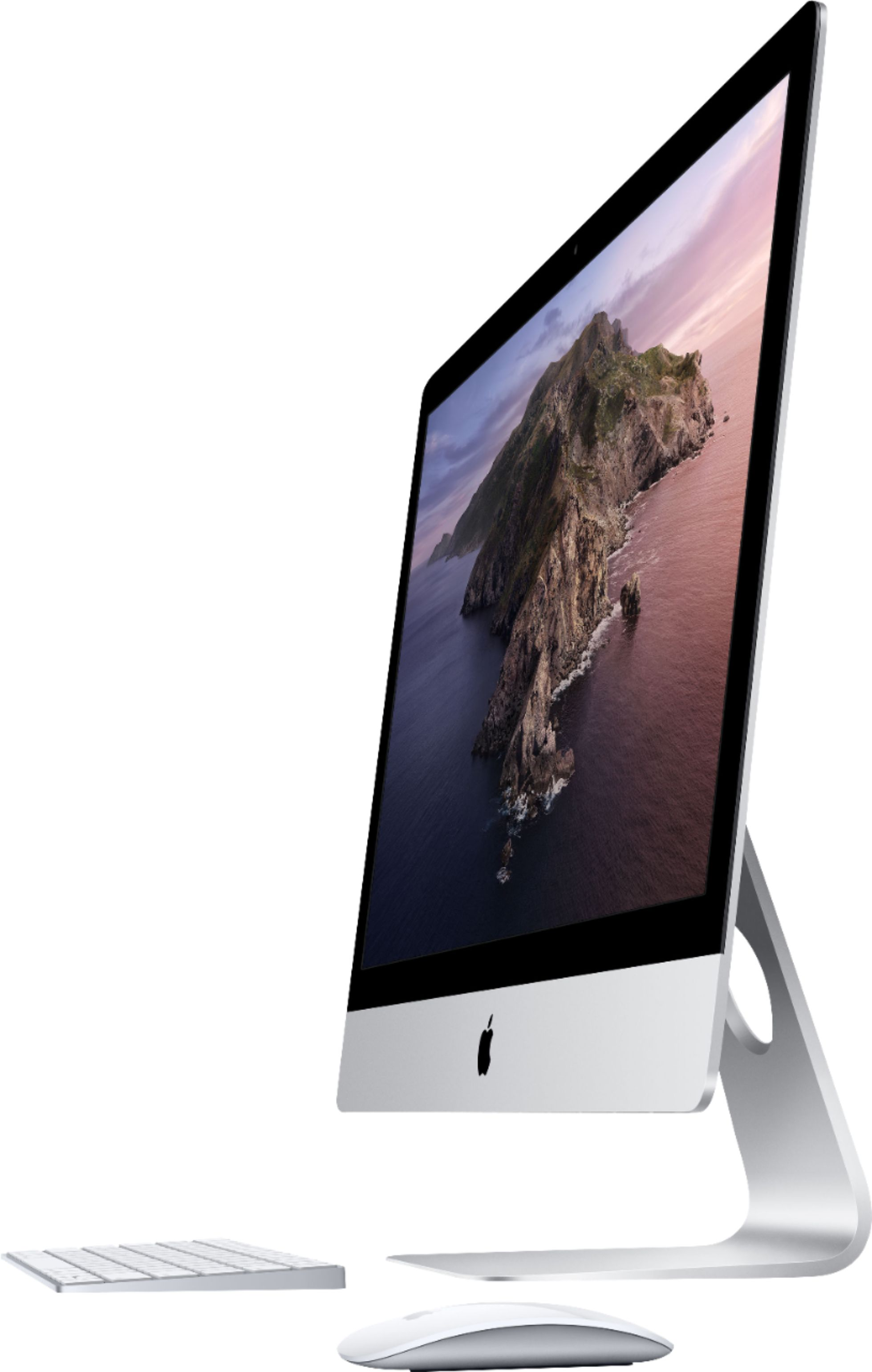"Left Zoom. Apple - 27"" iMac® with Retina 5k display - Intel Core i5 (3.1GHz) - 8GB Memory - 1TB Fusion Drive - Silver."