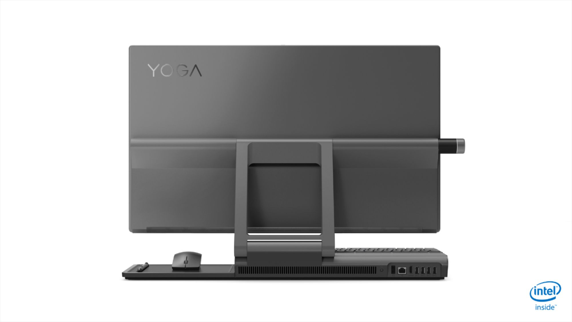 """Back Zoom. Lenovo - Yoga A940 27"""" Touch-Screen All-In-One - Intel Core i7 - 16GB Memory - 1TB Hard Drive + 256GB Solid State Drive - Grey."""