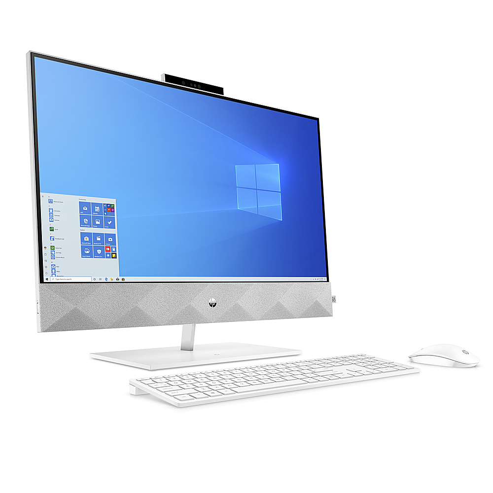 "Alt View Zoom 3. HP Pavilion 23.8 "" Touch-Screen All-in-One Intel Core  i7-10700T  16GB Memory 512GB SSD 1TB HDD - Snowflake white."