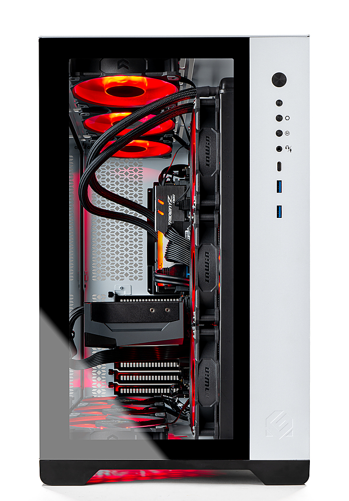 Alt View Zoom 2. Skytech Gaming – PRISM II Gaming Desktop –  Ryzen 9 3900X – RTX 3090 – 32GB Memory – 1TB Gen4 SSD – 360mm AIO - White.