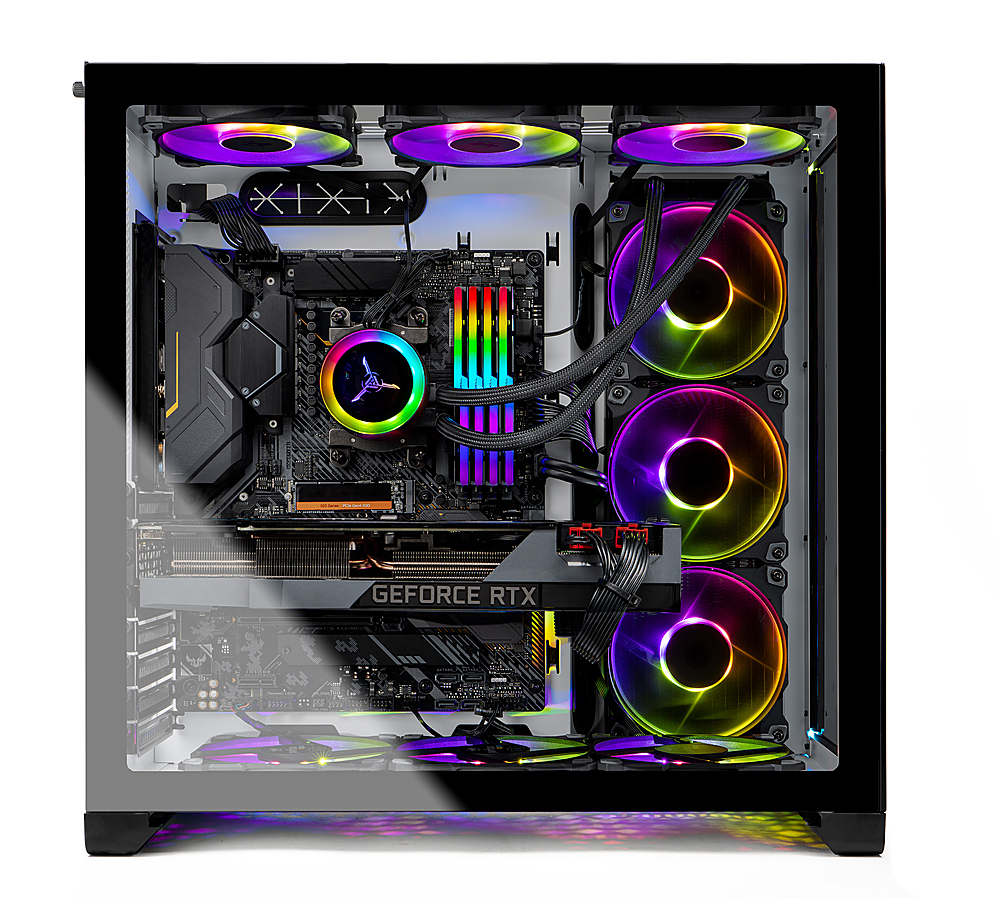 Alt View Zoom 5. Skytech Gaming – PRISM II Gaming Desktop –  Ryzen 9 3900X – RTX 3090 – 32GB Memory – 1TB Gen4 SSD – 360mm AIO - White.