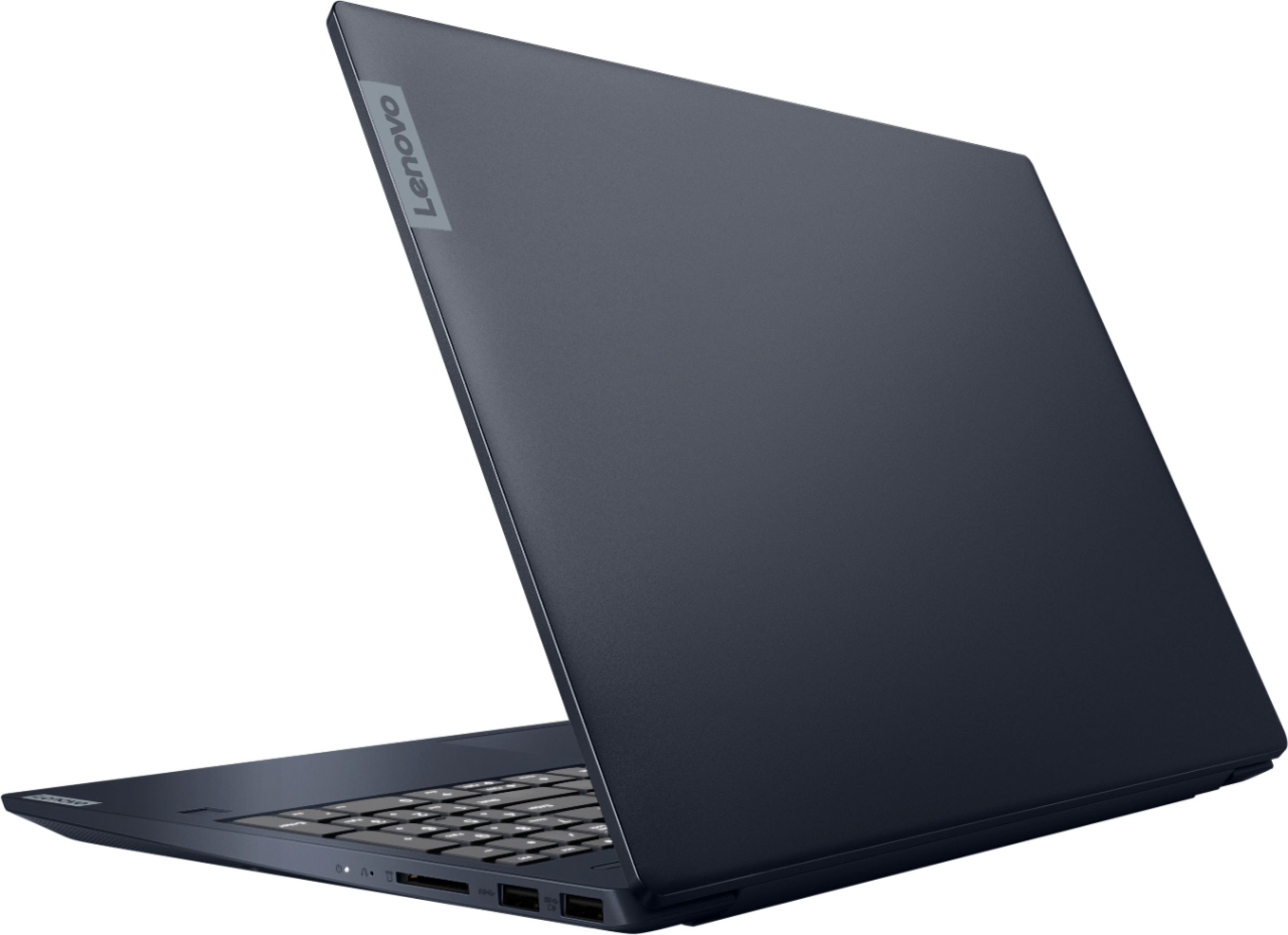 """Alt View Zoom 1. Lenovo - IdeaPad S340 15"""" Touch-Screen Laptop - AMD Ryzen 7 3700U - 12GB Memory - 512GB Solid State Drive - Abyss Blue."""