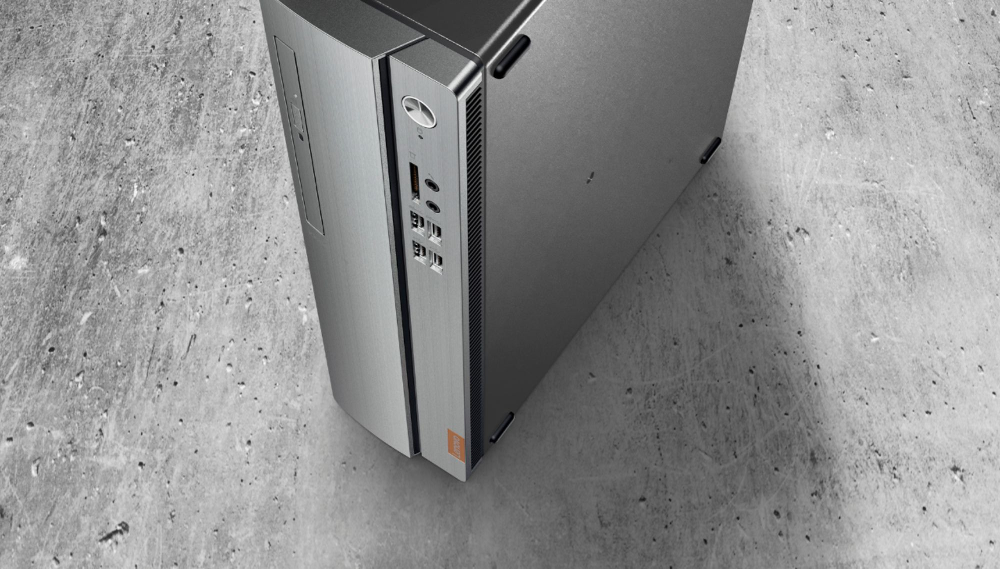 Alt View Zoom 14. Lenovo - IdeaCentre 310S Desktop - AMD A9-Series - 4GB Memory - 1TB Hard Drive - Silver.