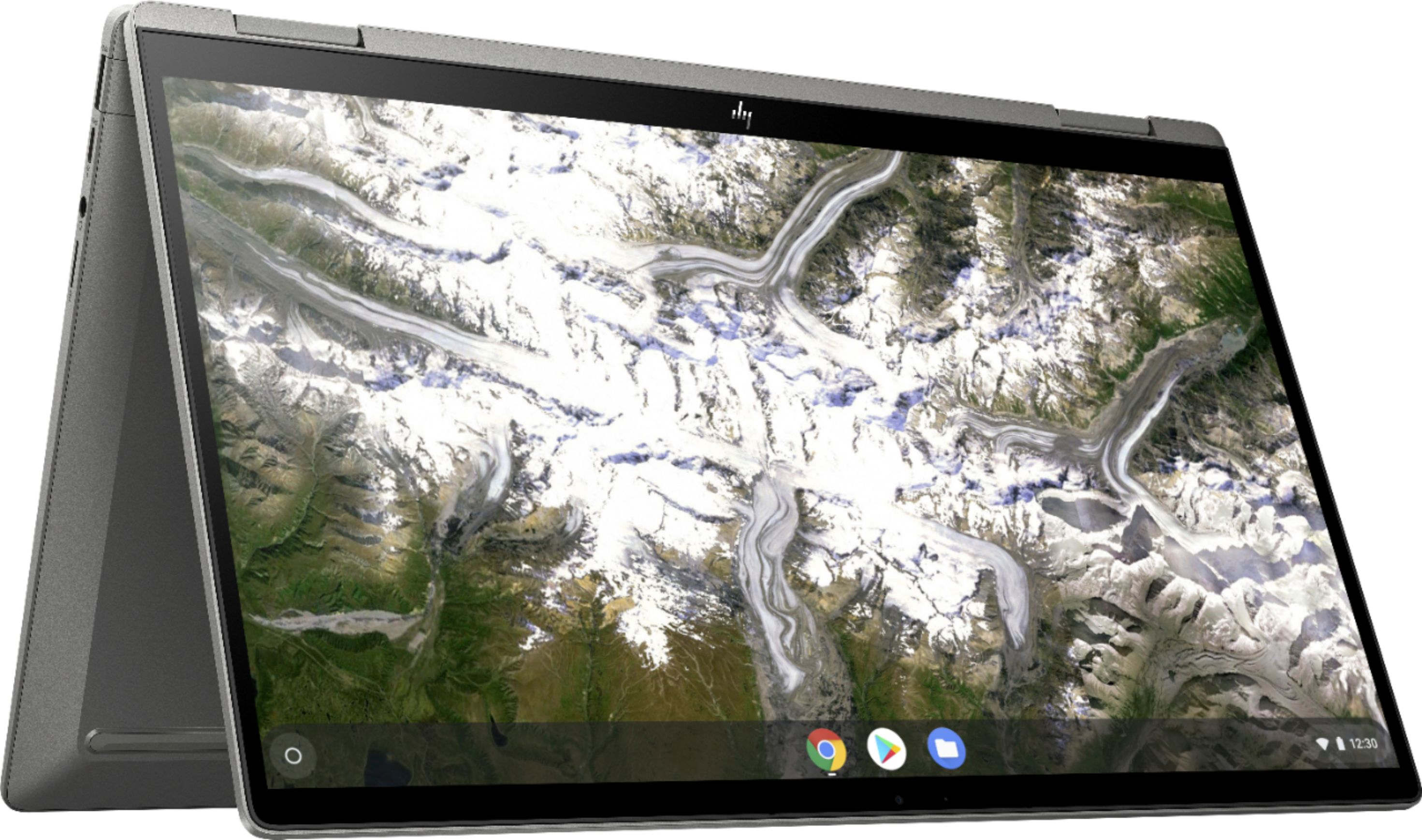 """Angle Zoom. HP - 2-in-1 14"""" Touch-Screen Chromebook - Intel Core i3 - 8GB Memory - 64GB eMMC Flash Memory - Mineral Silver."""