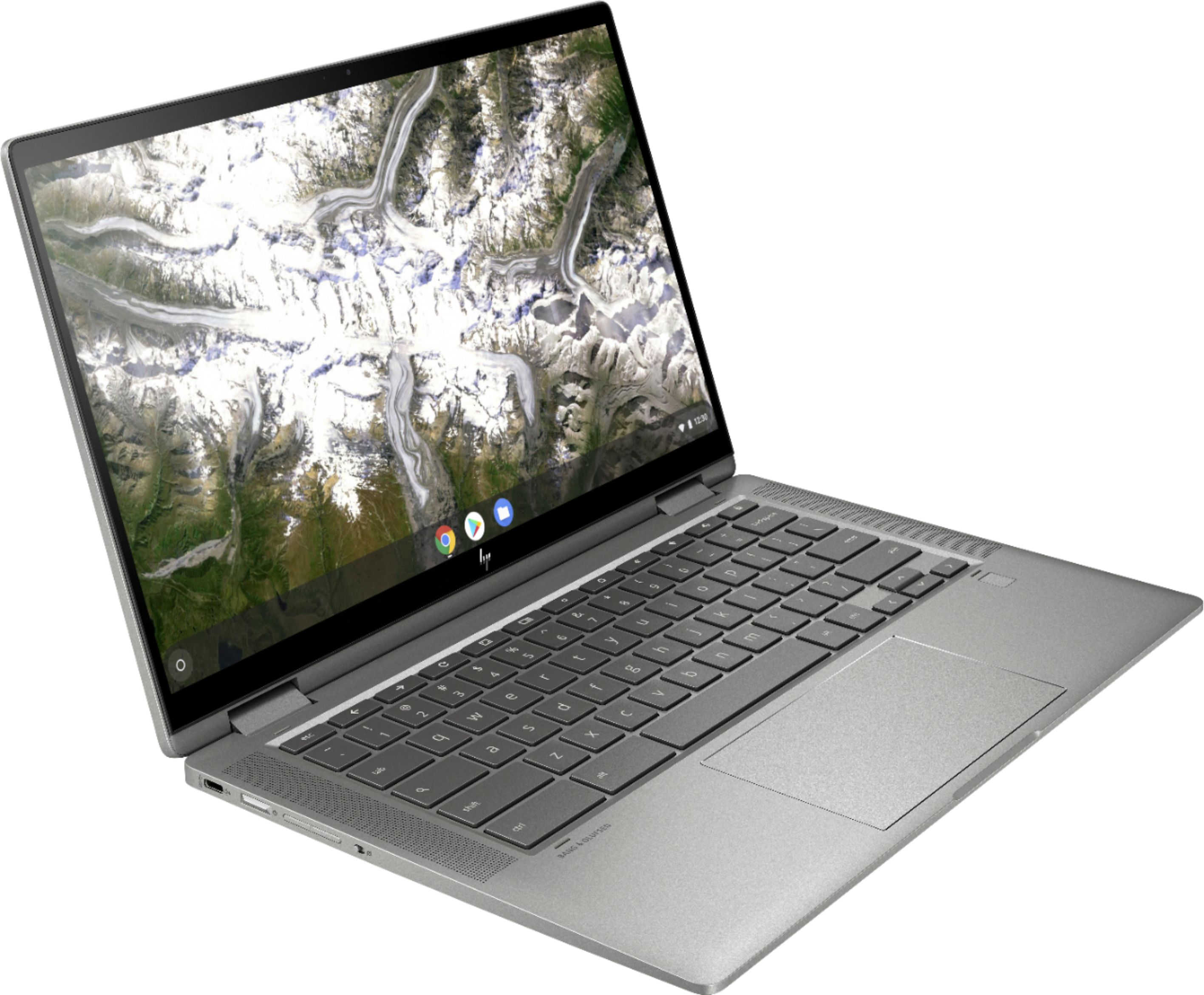"""Alt View Zoom 1. HP - 2-in-1 14"""" Touch-Screen Chromebook - Intel Core i3 - 8GB Memory - 64GB eMMC Flash Memory - Mineral Silver."""