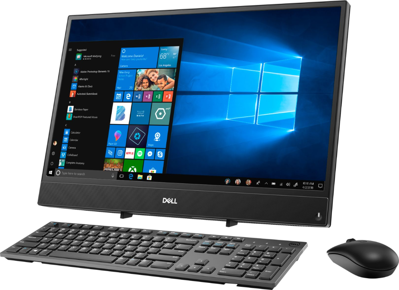 """Left Zoom. Dell - Inspiron 21.5"""" Touch-Screen All-In-One - AMD A6-Series - 4GB Memory - 1TB Hard Drive - Black."""