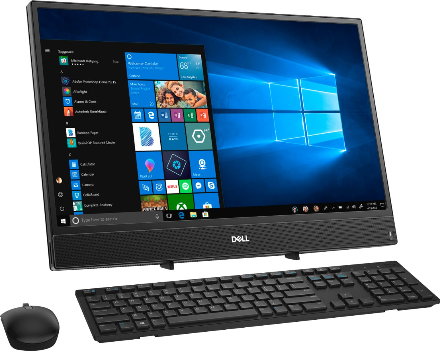 """Angle Zoom. Dell - Inspiron 21.5"""" Touch-Screen All-In-One - AMD A6-Series - 4GB Memory - 1TB Hard Drive - Black."""