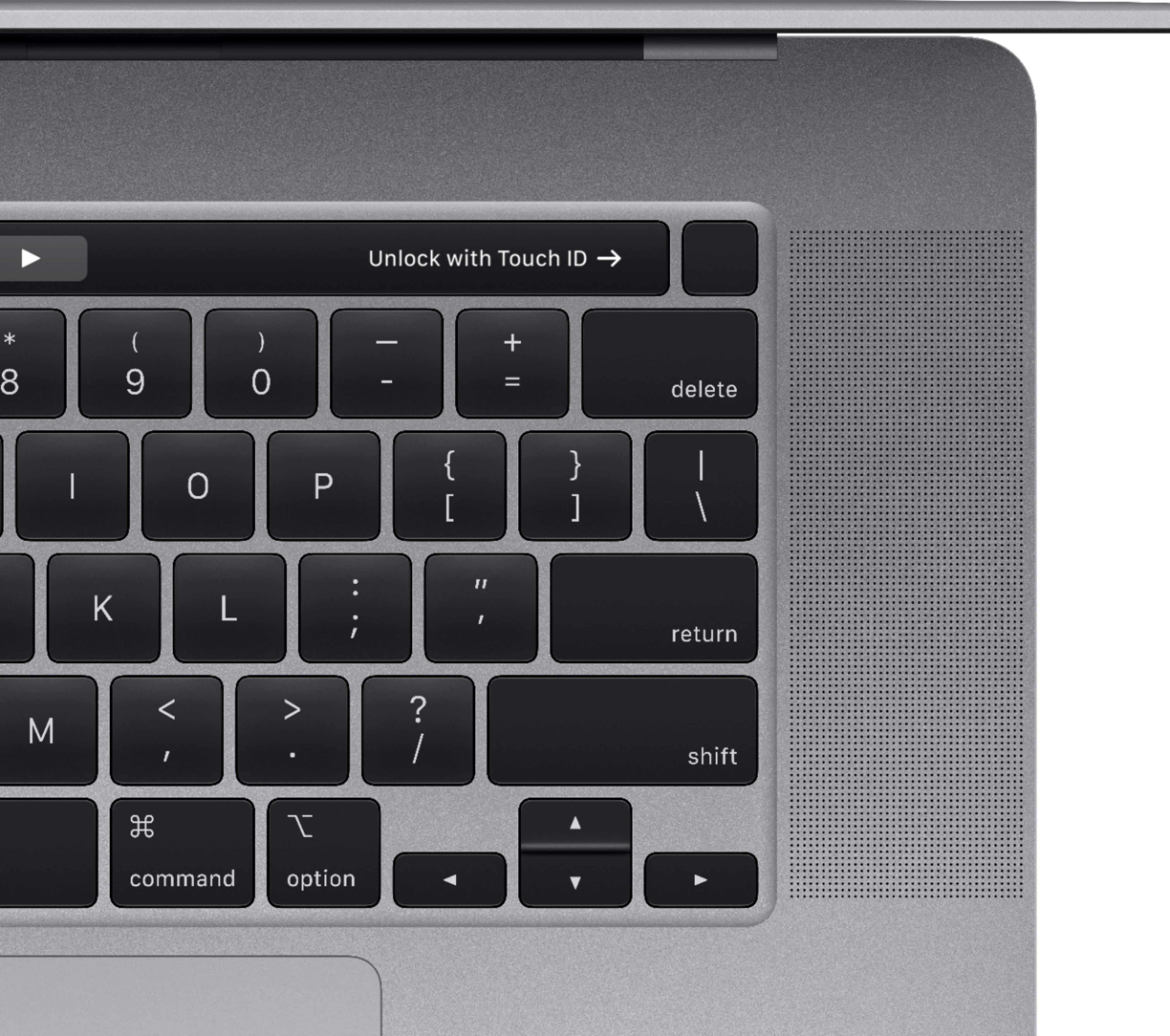 """Alt View Zoom 13. Apple - MacBook Pro - 16"""" Display with Touch Bar - Intel Core i9 - 16GB Memory - AMD Radeon Pro 5500M - 1TB SSD (Latest Model) - Space Gray."""
