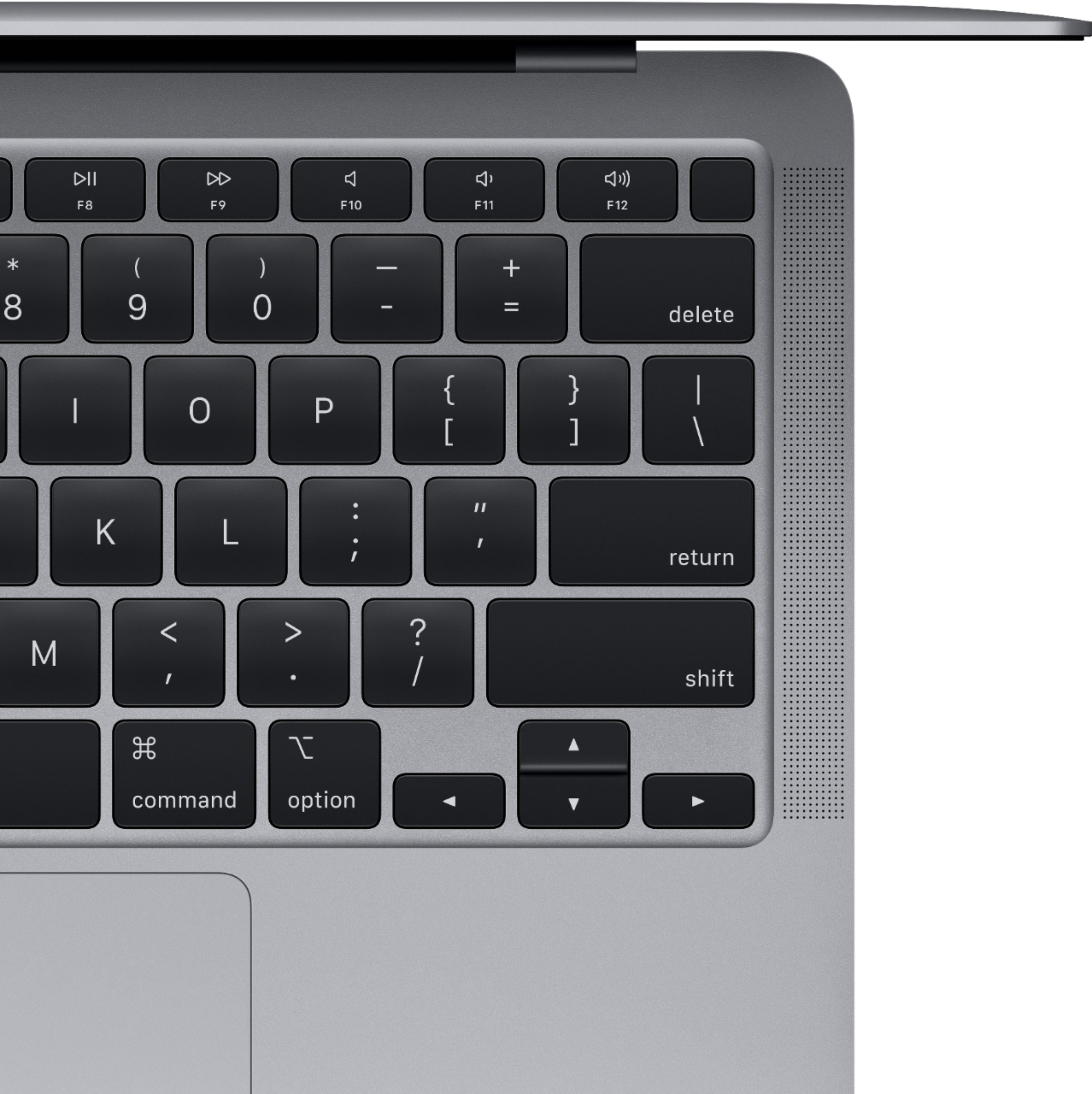 """Alt View Zoom 12. MacBook Air 13.3"""" Laptop - Apple M1 chip - 8GB Memory - 256GB SSD (Latest Model) - Space Gray."""