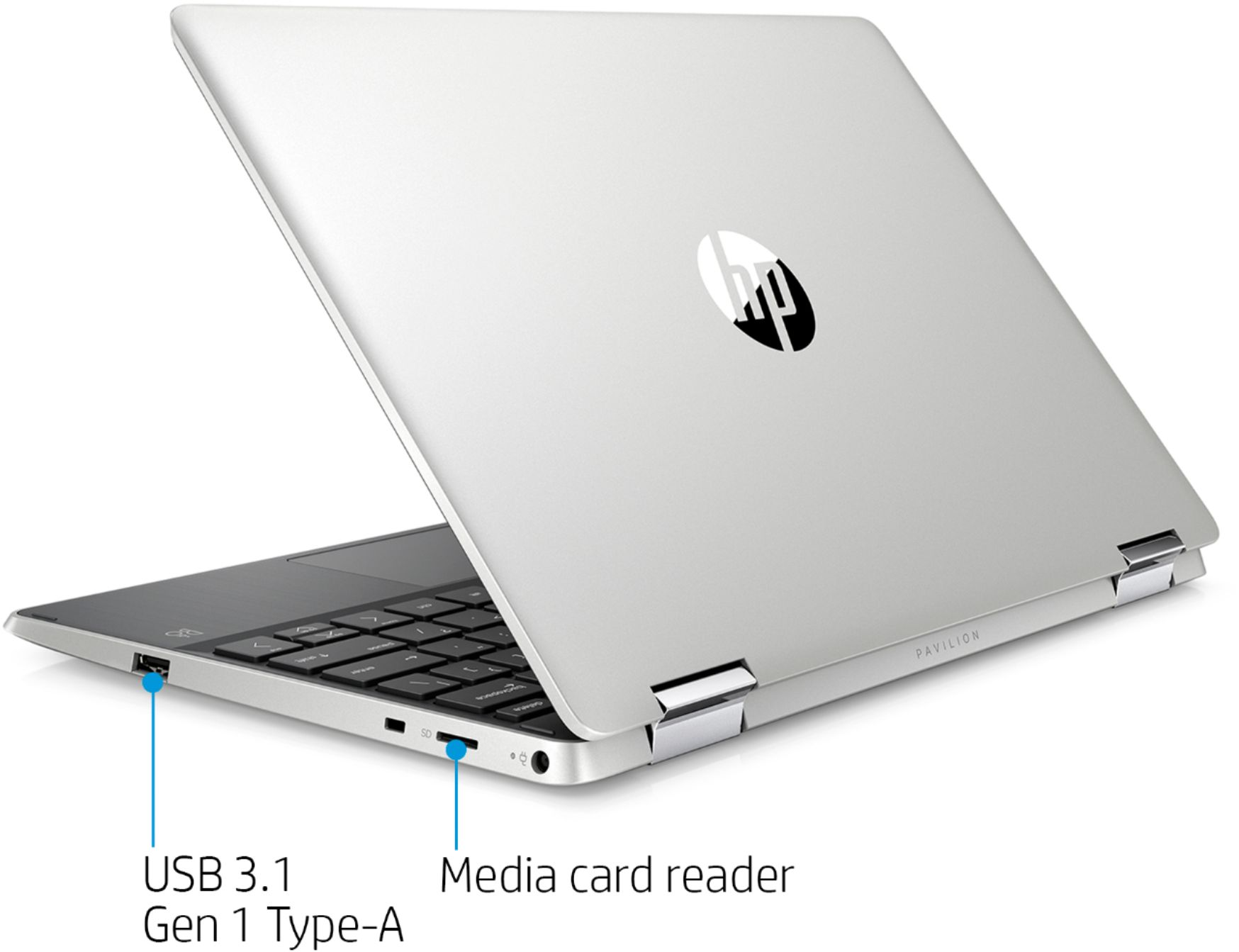 """Alt View Zoom 1. HP - Pavilion x360 2-in-1 11.6"""" Touch-Screen Laptop - Intel Pentium - 4GB Memory - 128GB Solid State Drive - Ash Silver."""