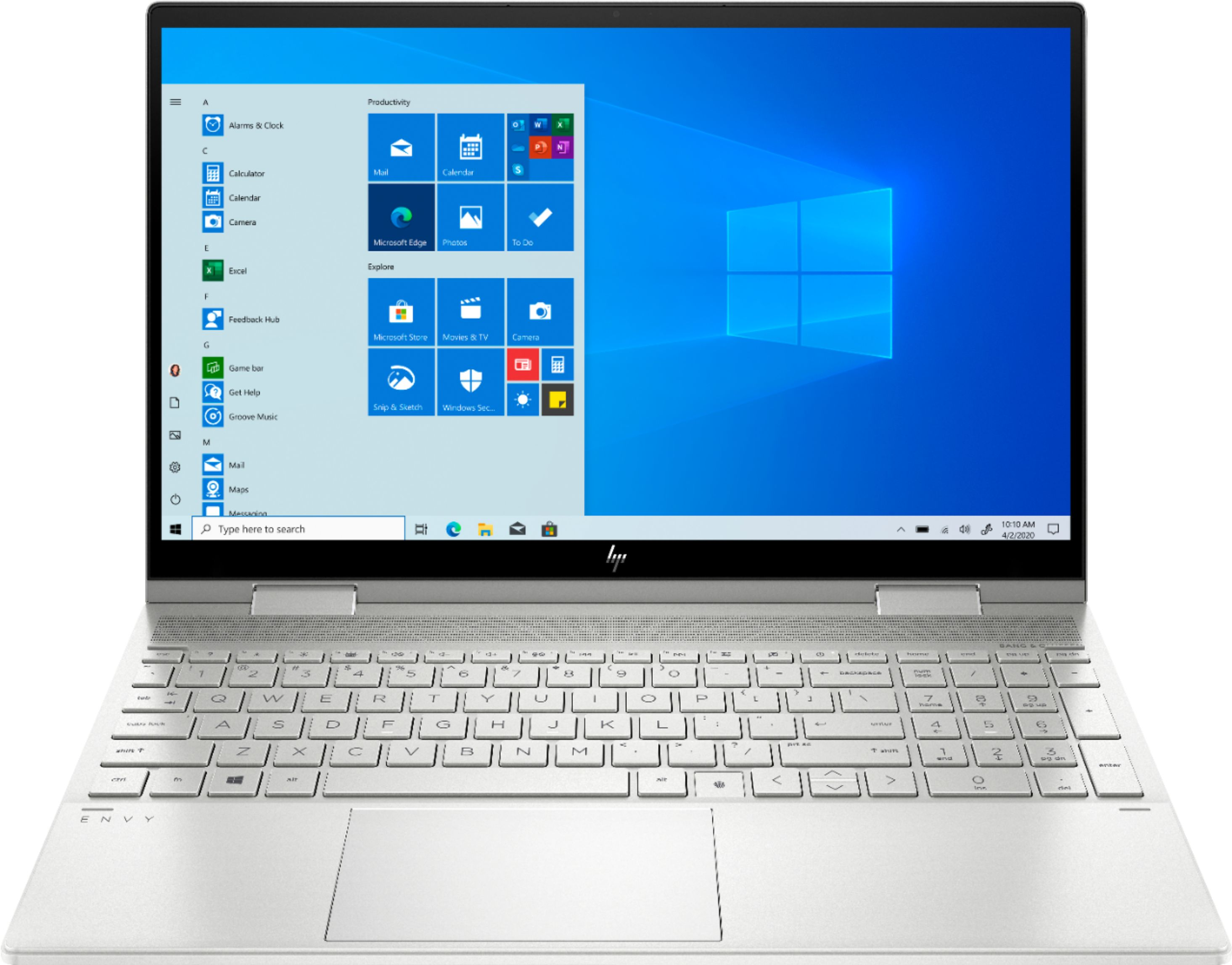 "Front Zoom. HP - ENVY x360 2-in-1 15.6"" Touch-Screen Laptop - Intel Core i7 - 12GB Memory - 512GB SSD + 32GB Optane - Natural Silver."