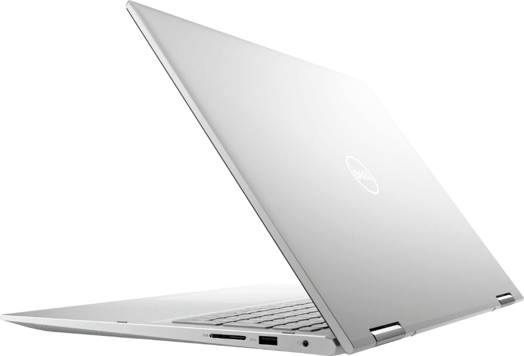 """Alt View Zoom 1. Dell - Inspiron 7000 2-in-1 - 17"""" QHD+ Touch Laptop - 11th Gen Intel Core i7 -NVIDIA - 16GB RAM - 512GB SSD+32GB Optane - Silver."""