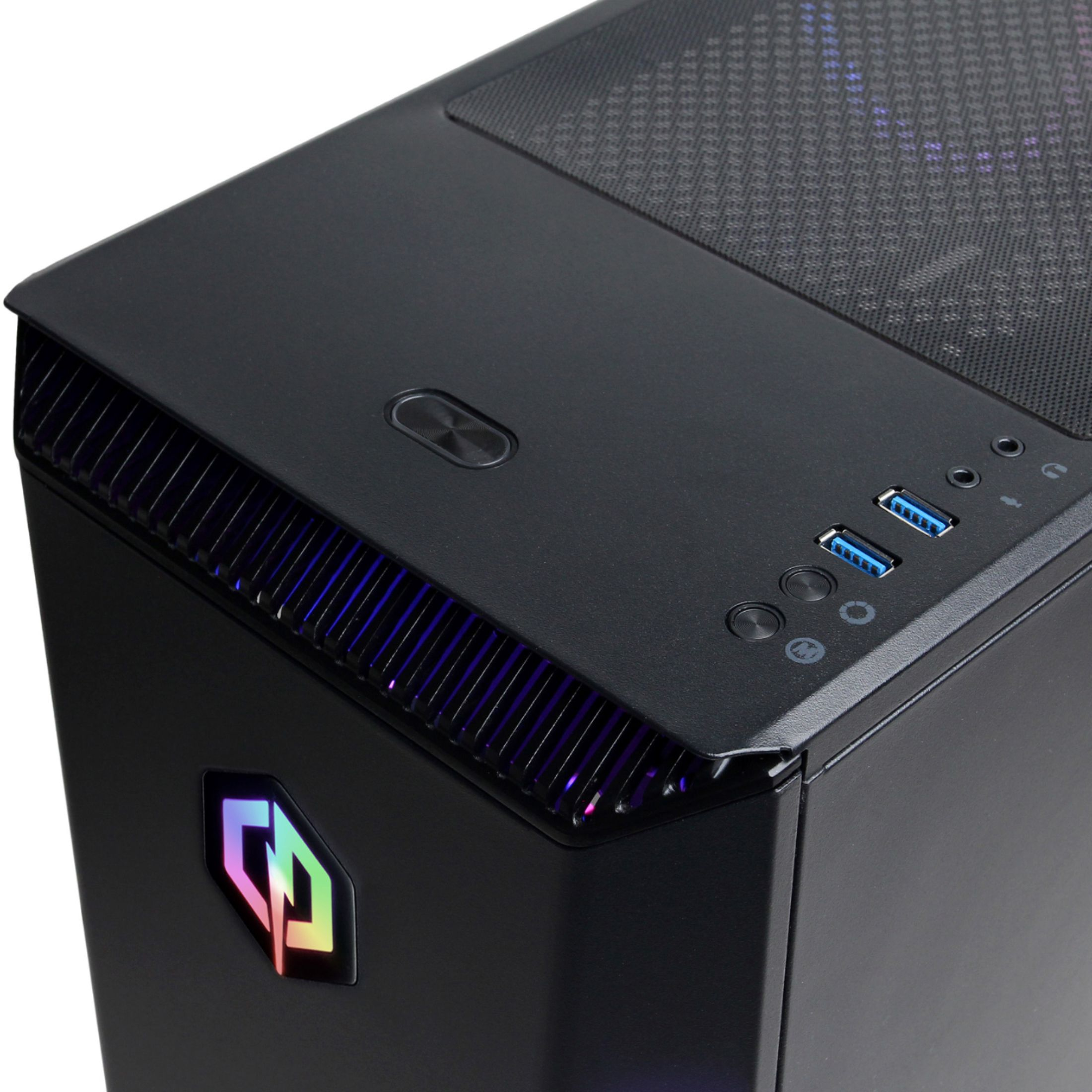 Alt View Zoom 14. CyberPowerPC - Gaming Desktop - AMD Ryzen 5 3600 - 8GB Memory - AMD Radeon RX 580 - 2TB HDD + 240GB SSD - Black.