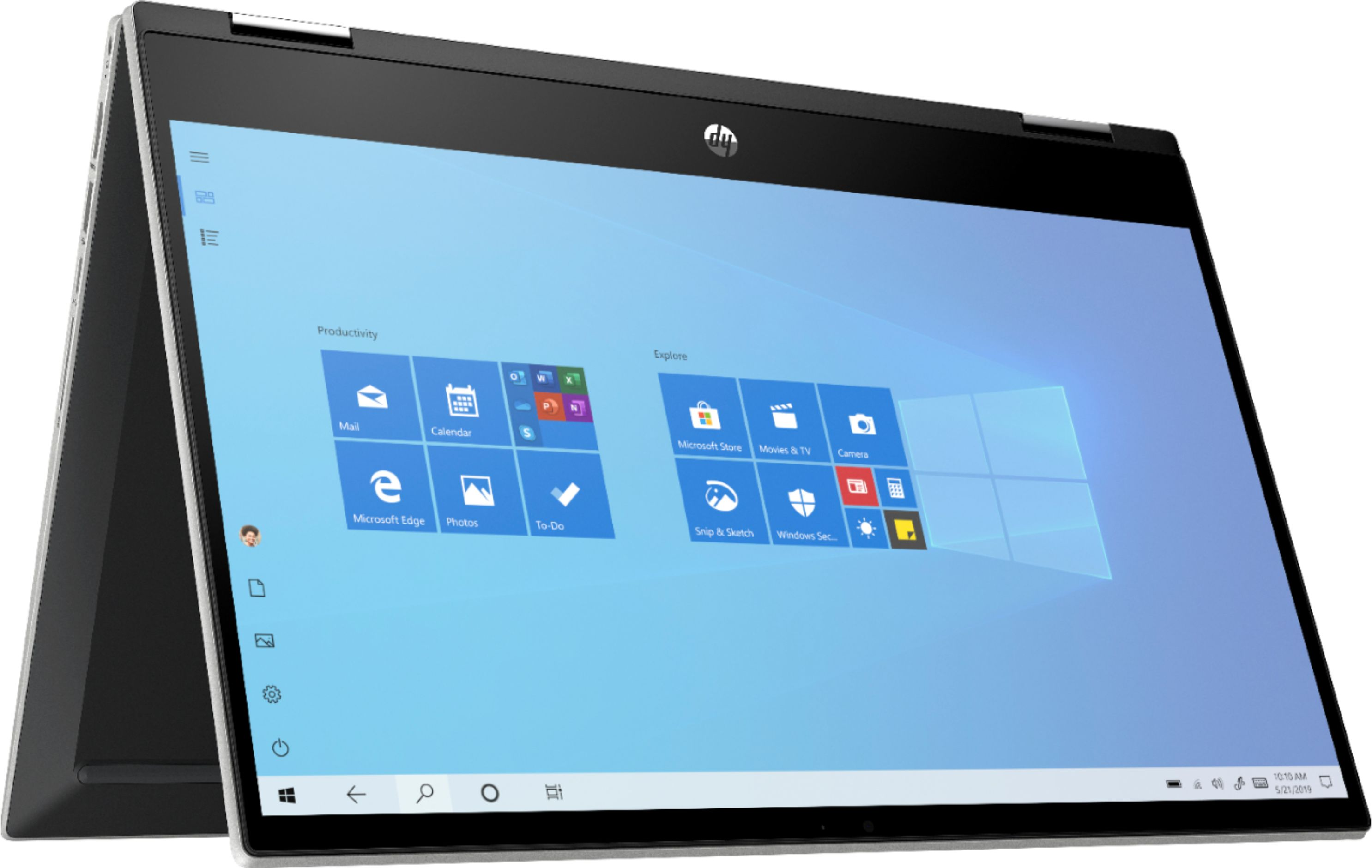 """Alt View Zoom 11. HP - Pavilion x360 2-in-1 14"""" Touch-Screen Laptop - Intel Core i3 - 8GB Memory - 128GB SSD - Natural Silver."""