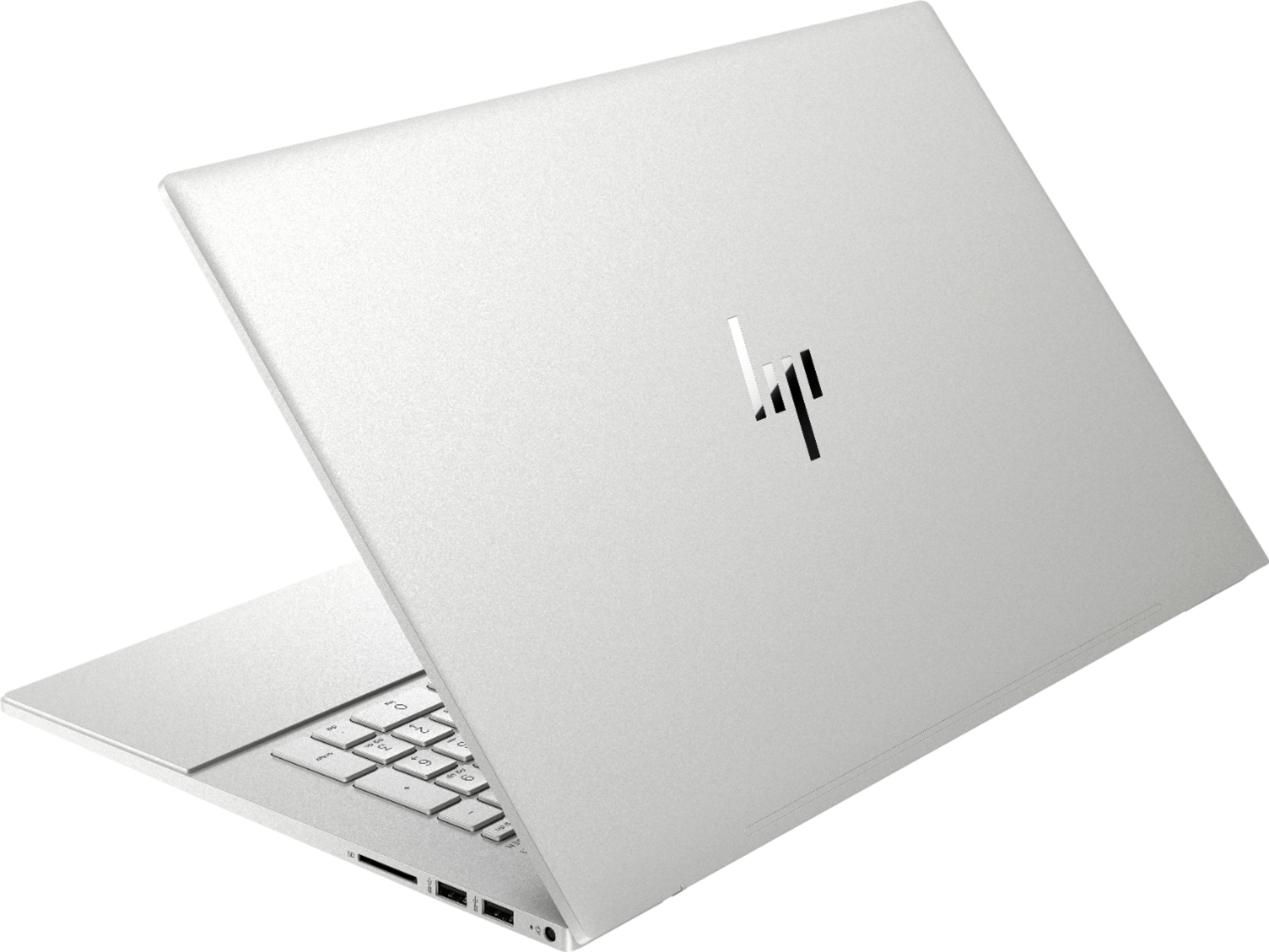 """Alt View Zoom 1. HP - ENVY 17.3"""" Touch-Screen Laptop - Intel Core i7 - 12GB Memory - 512GB SSD + 32GB Optane - Natural Silver."""
