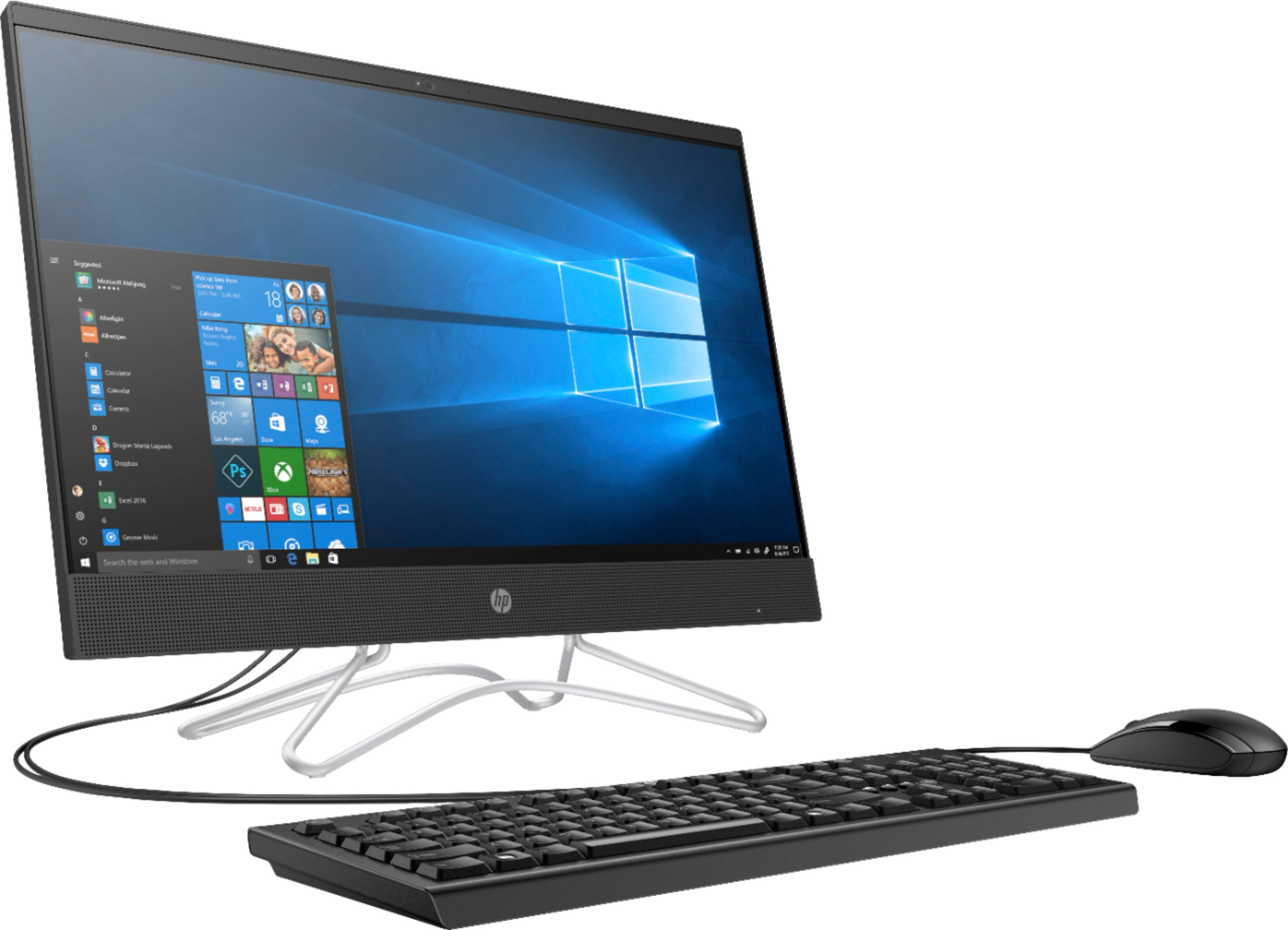 "Angle Zoom. HP - 23.8"" Touch-Screen All-In-One - Intel Core i3 - 8GB Memory - 256GB SSD - Jet Black."