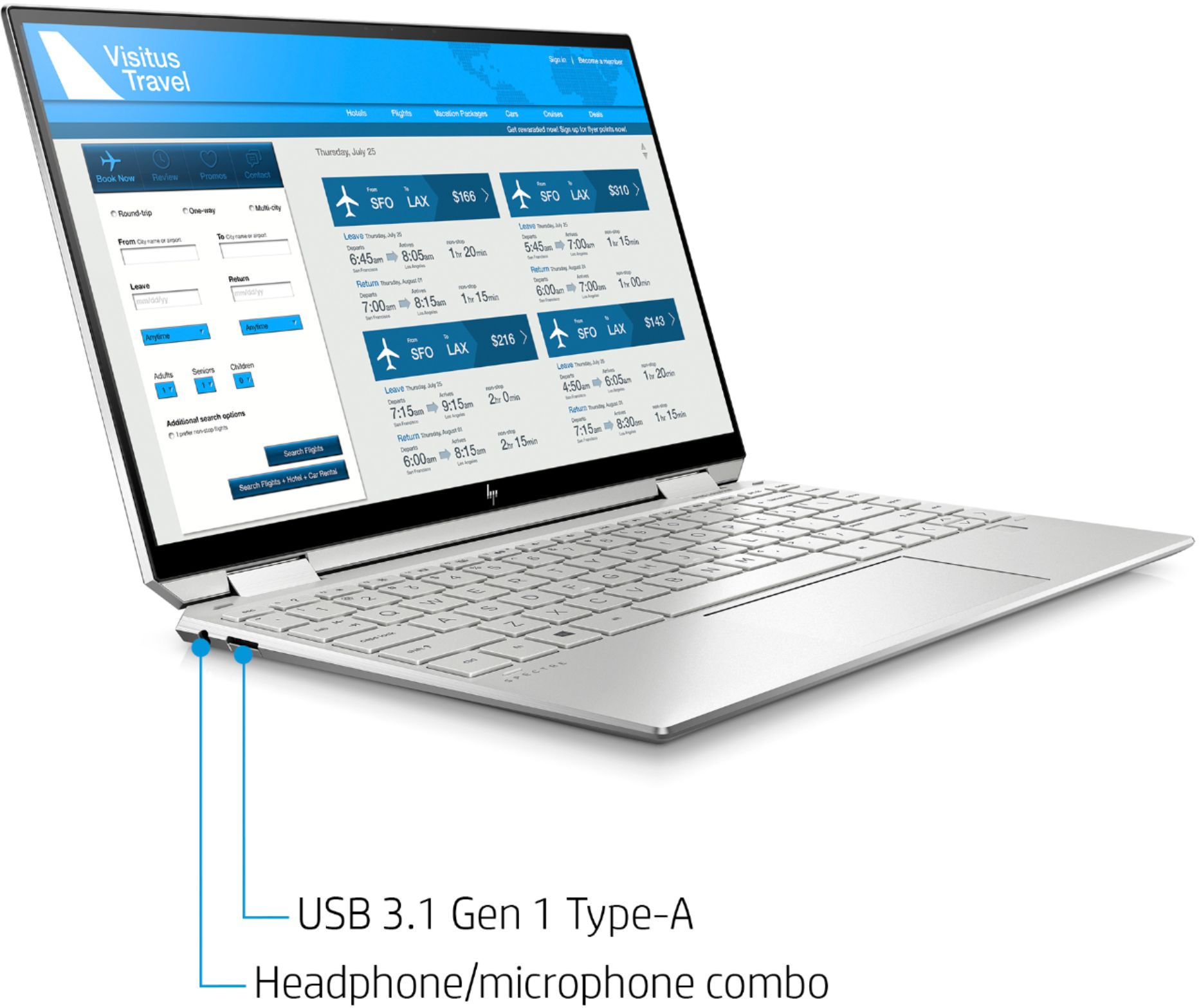 """Alt View Zoom 11. HP - Spectre x360 2-in-1 13.3"""" 4K Ultra HD Touch-Screen Laptop - Intel Core i5 - 8GB Memory - 256GB SSD - Natural Silver."""