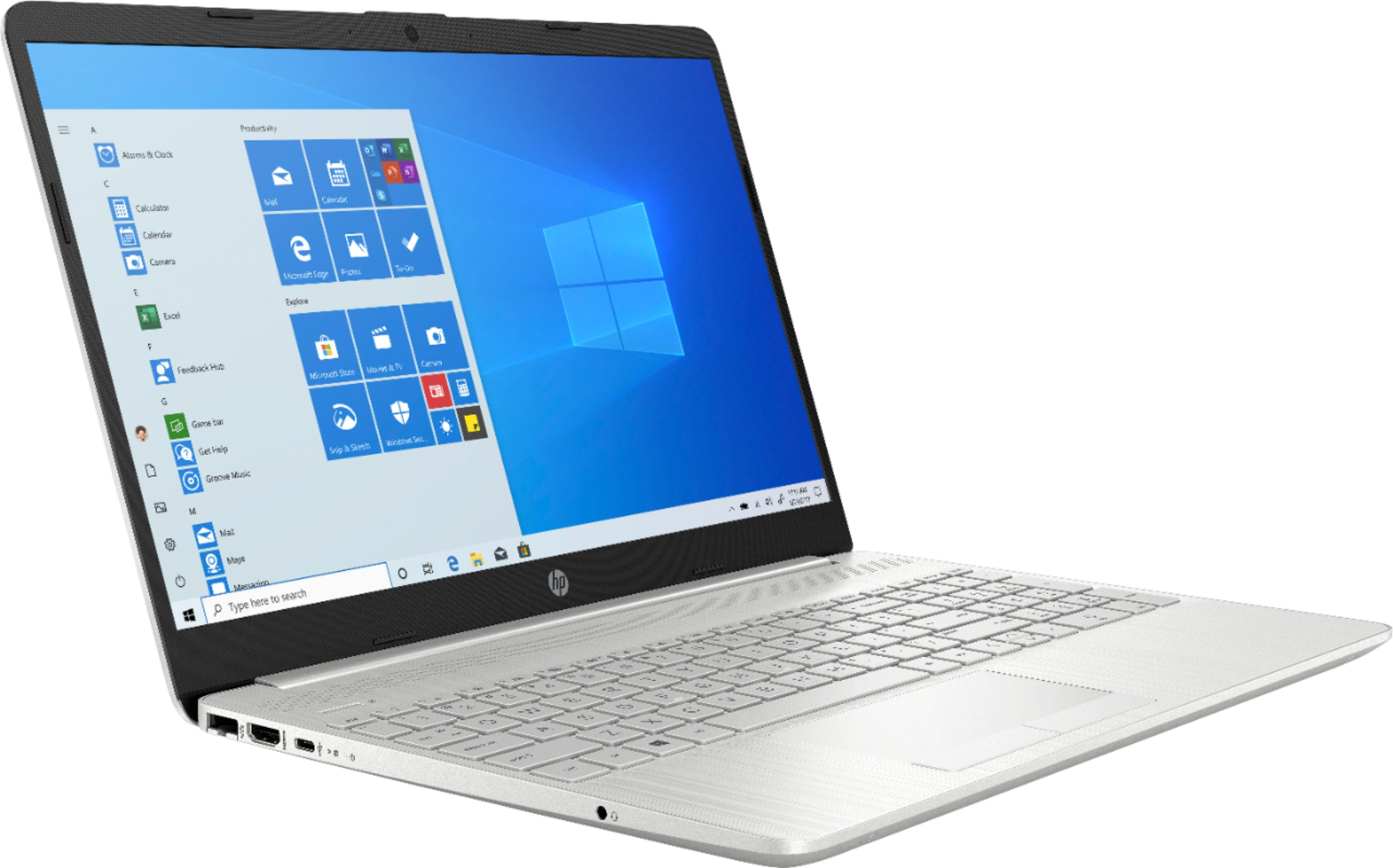 """Angle Zoom. HP - 15.6"""" Touch-Screen Laptop - AMD Ryzen 5 - 12GB Memory - 1TB HDD + 128GB SSD - Natural Silver."""