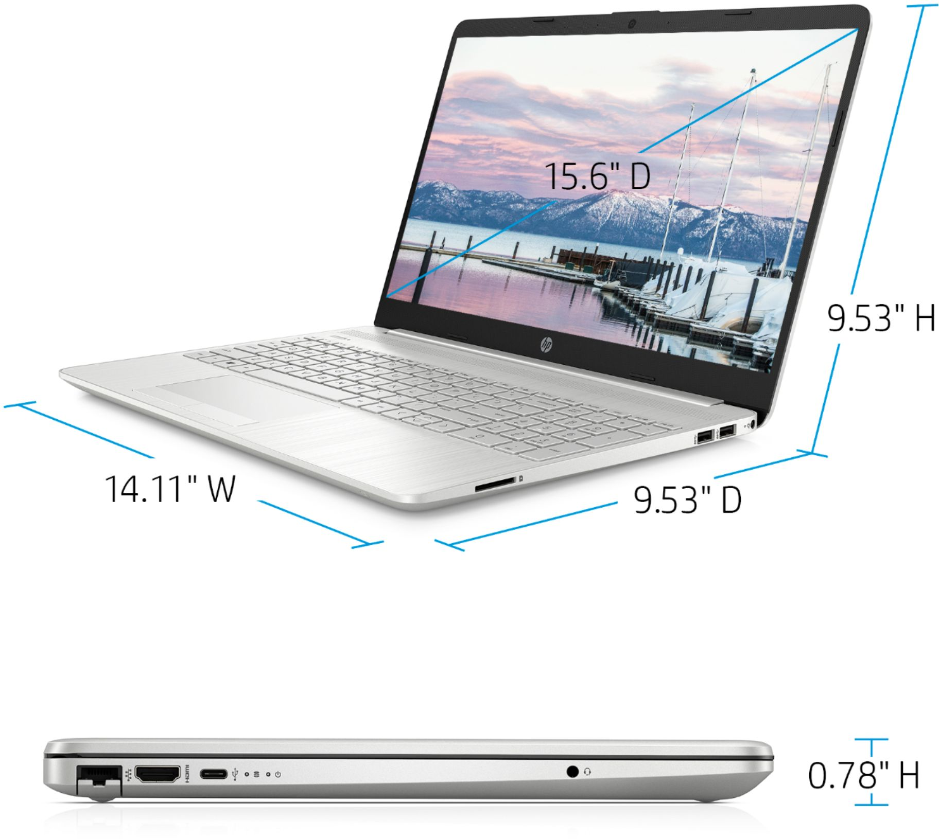 """Alt View Zoom 11. HP - 15.6"""" Touch-Screen Laptop - AMD Ryzen 5 - 12GB Memory - 1TB HDD + 128GB SSD - Natural Silver."""