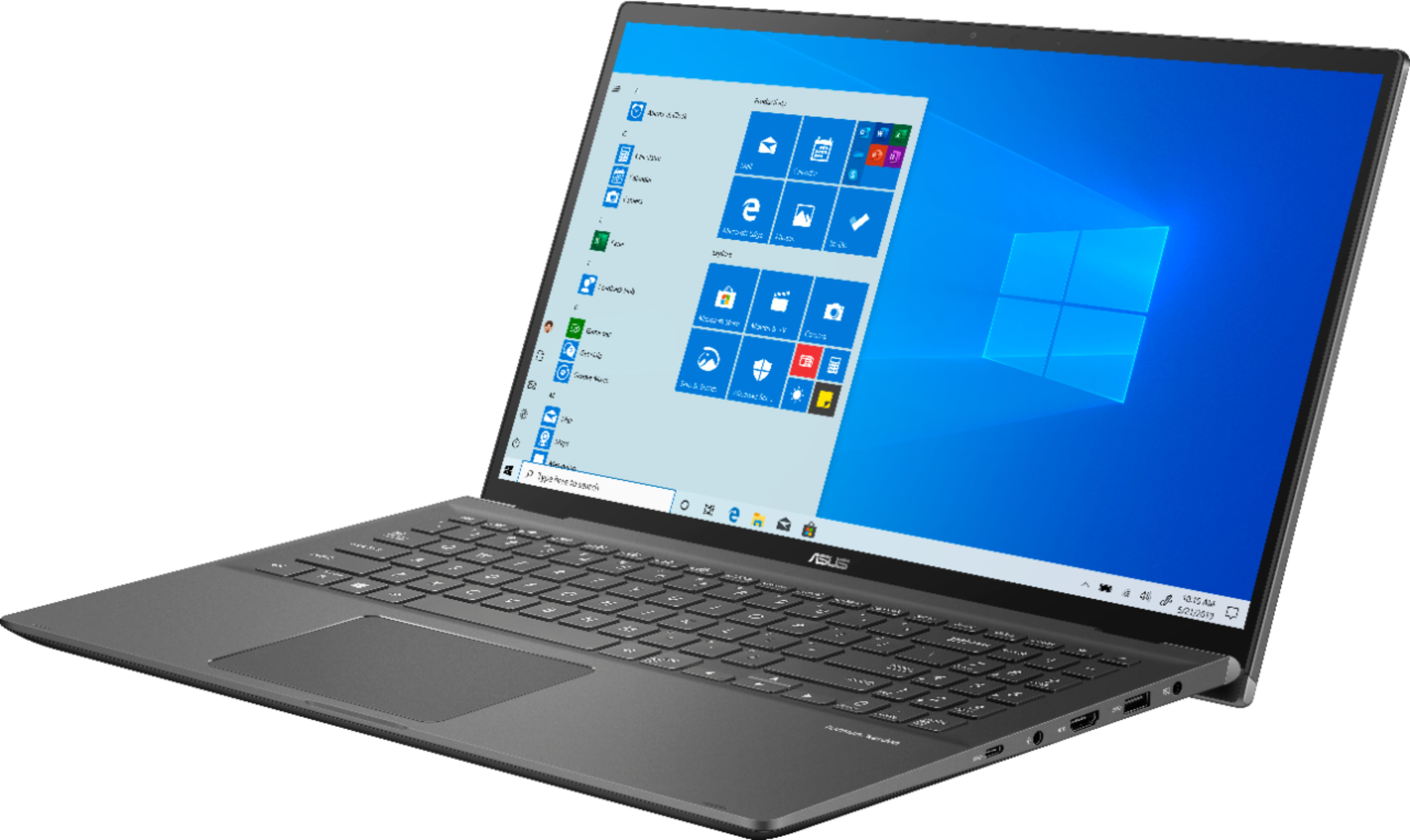 """Left Zoom. ASUS - 15.6"""" Touch-Screen Laptop - Intel Core i7 - 16GB Memory - 1TB Hard Drive + 128GB Solid State Drive - Gun Gray."""