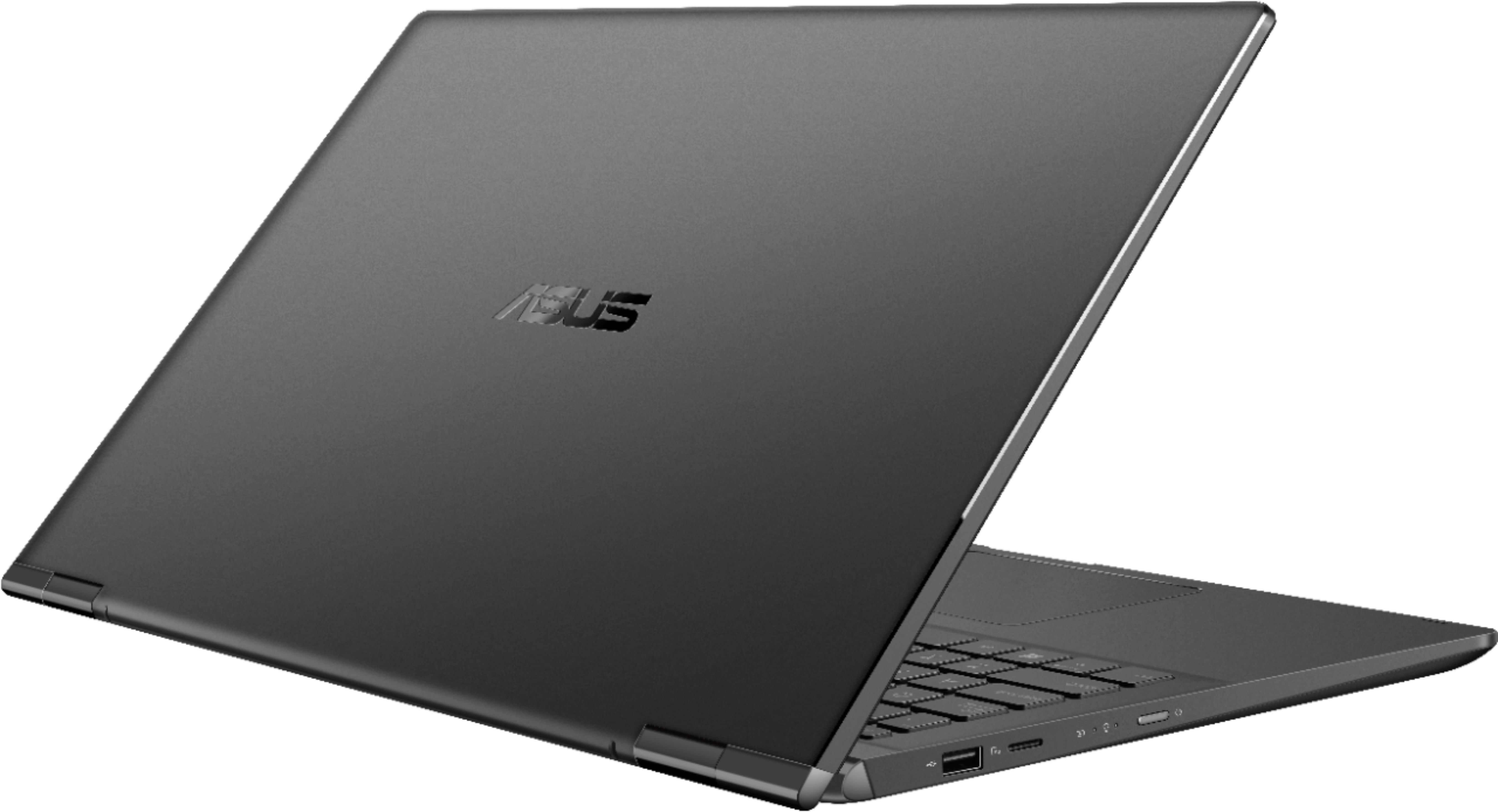 """Alt View Zoom 1. ASUS - 15.6"""" Touch-Screen Laptop - Intel Core i7 - 16GB Memory - 1TB Hard Drive + 128GB Solid State Drive - Gun Gray."""