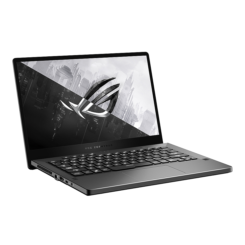 "Angle Zoom. Asus - ROG Zephyrus G14 14"" QHD IPS Gaming Laptop -  AMD Ryzen 9 4900HS -  16GB - GeForce RTX 2060 6GB  - 1TB - Eclipse Gray."