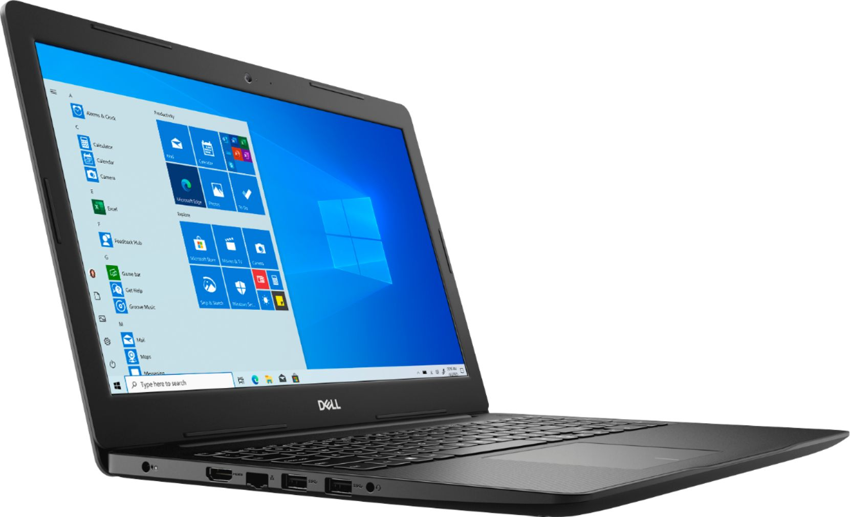 """Angle Zoom. Dell - Inspiron 15 3593- 15.6"""" HD Touch Screen Laptop - Intel Core i7 - 12GB Memory - 512GB SSD - Black."""