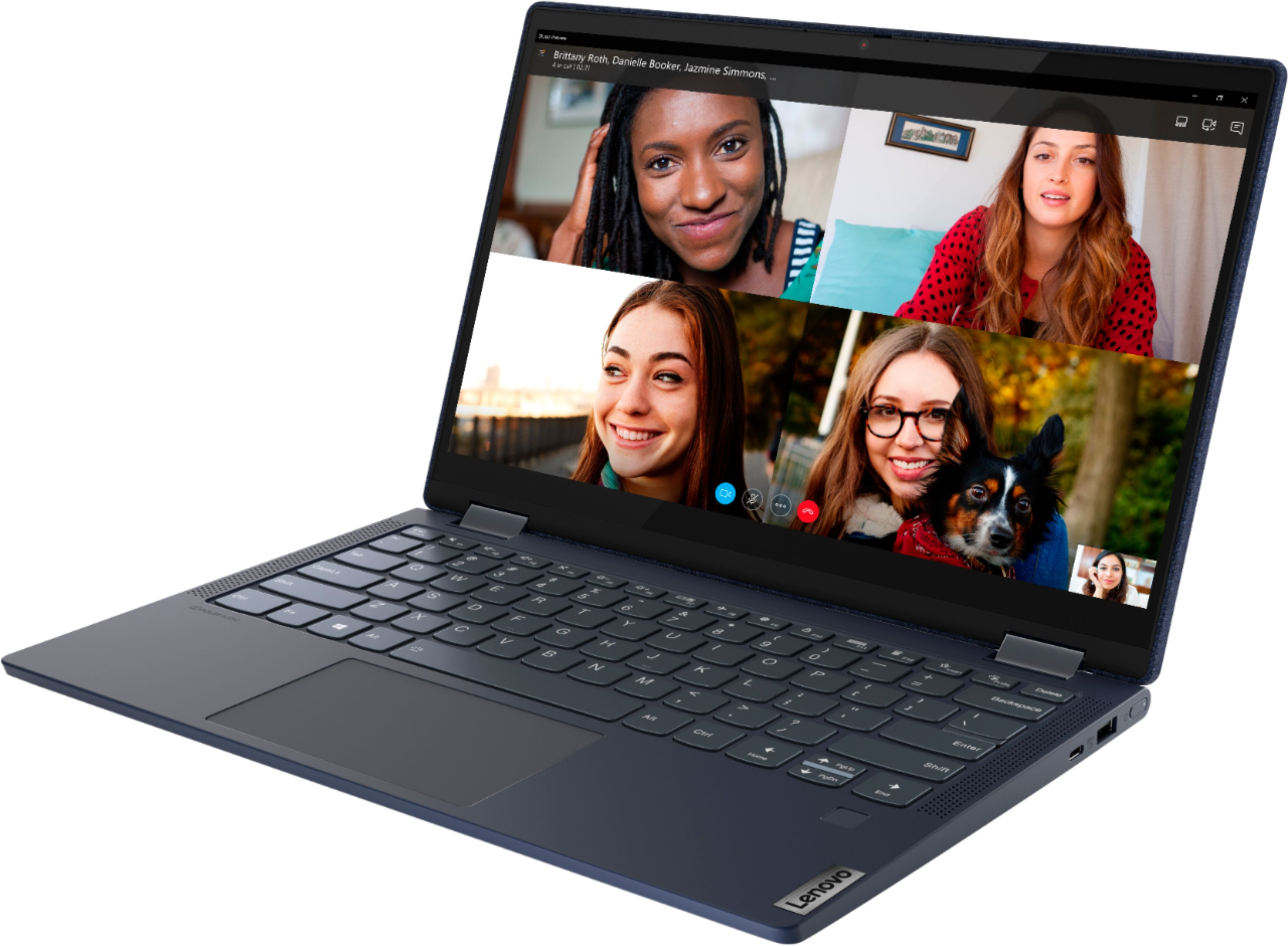 """Alt View Zoom 1. Lenovo Yoga 6 13 2-in-1 13.3"""" Touch Screen Laptop - AMD Ryzen 5 - 8GB Memory - 256GB SSD - Abyss Blue Fabric Cover."""