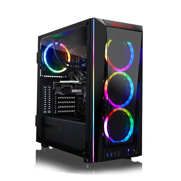 Front Zoom. CLX - SET Gaming Desktop - Intel Core i7 9700KF  - 32GB DDR4 3000GHz Memory - GeForce RTX 3060 Ti - 960GB SSD + 4TB HDD.