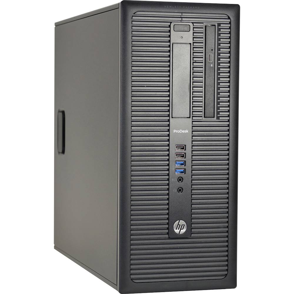 Angle Zoom. HP - Refurbished ProDesk Desktop - Intel Core i7 - 16GB Memory - 480GB Solid State Drive - Black.