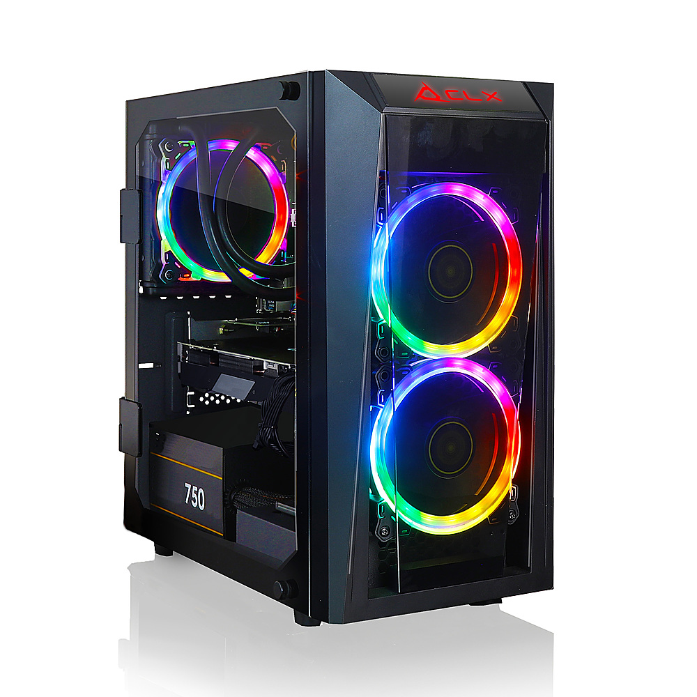 Front Zoom. CLX SET Gaming Desktop -  Intel Core i5 10400 - 16GB Memory - NVIDIA GeForce RTX 3070 - 240GB SSD + 2TB HDD - Black.