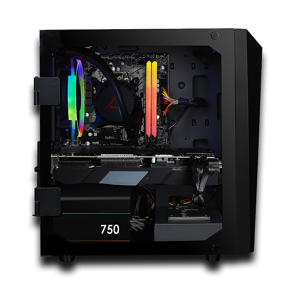 Alt View Zoom 4. CLX SET Gaming Desktop -  Intel Core i5 10400 - 16GB Memory - NVIDIA GeForce RTX 3070 - 240GB SSD + 2TB HDD - Black.