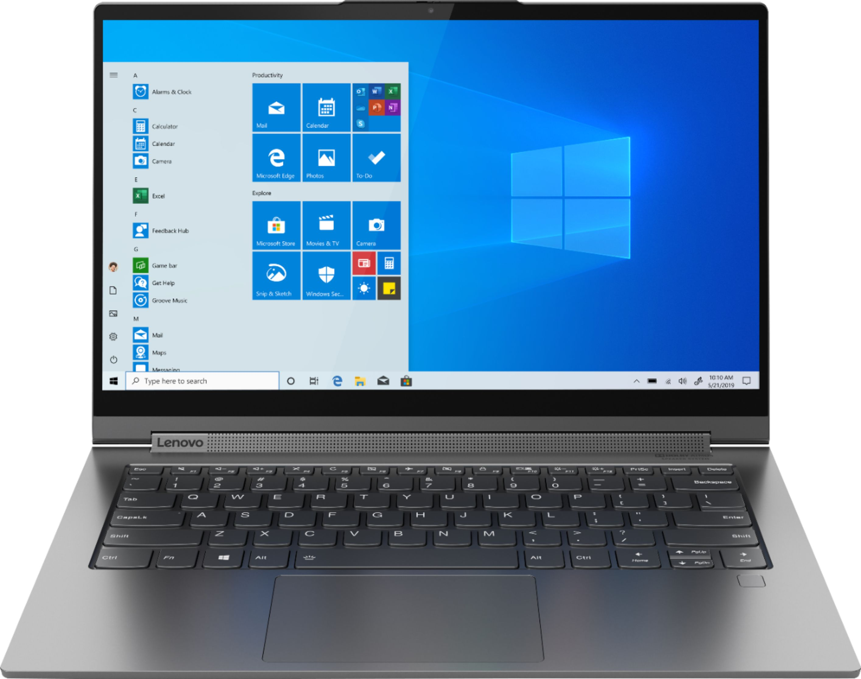 """Front Zoom. Lenovo - Yoga C940 2-in-1 14"""" Touch-Screen Laptop - Intel Core i7 - 12GB Memory - 512GB Solid State Drive - Iron Gray."""