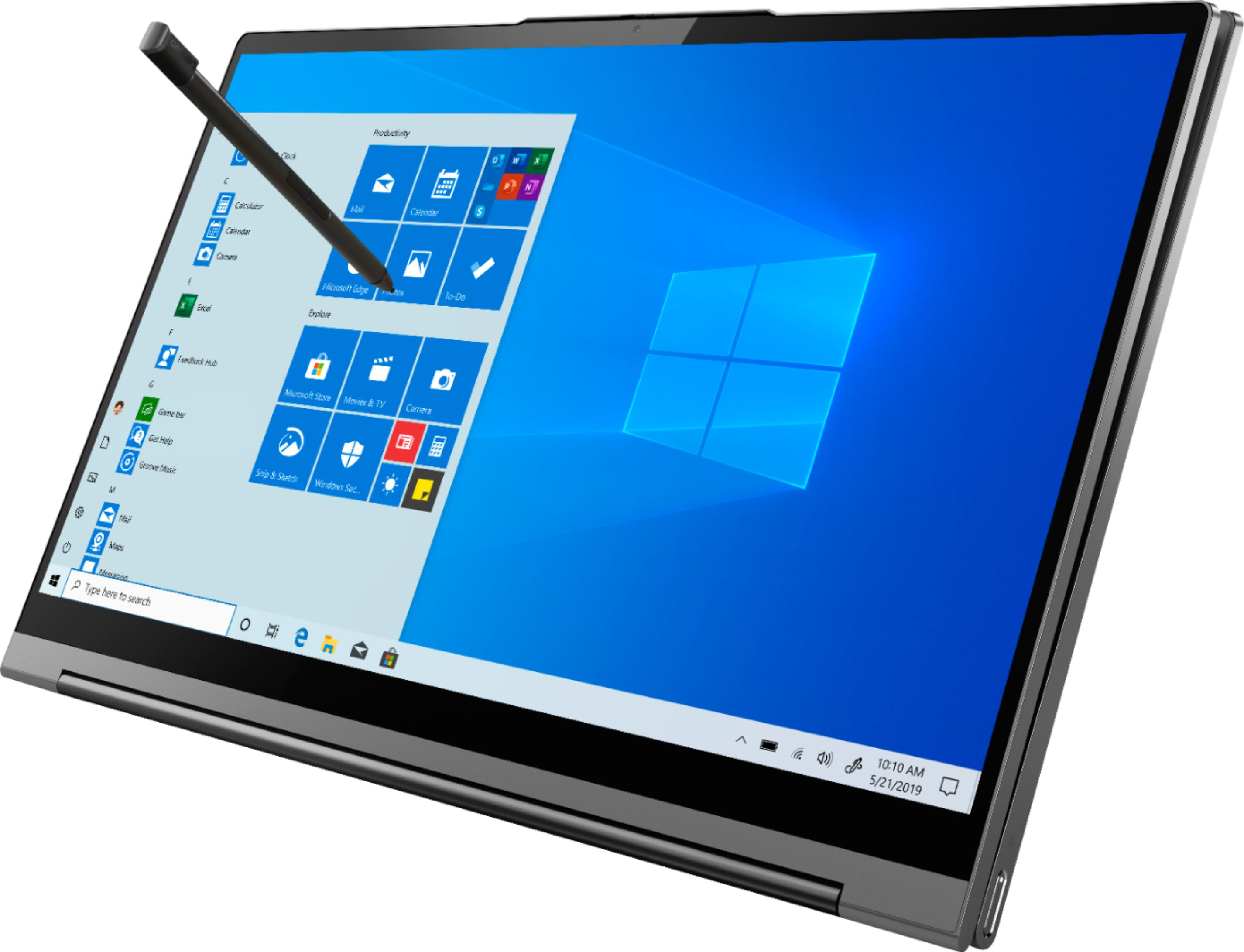 """Left Zoom. Lenovo - Yoga C940 2-in-1 14"""" Touch-Screen Laptop - Intel Core i7 - 12GB Memory - 512GB Solid State Drive - Iron Gray."""