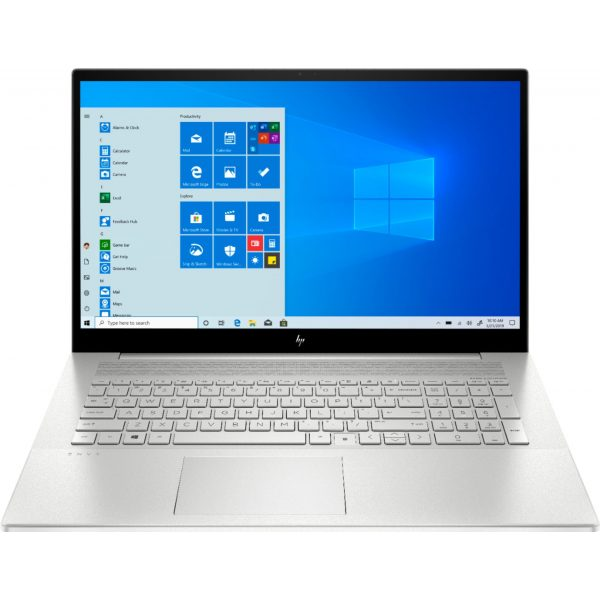 """HP - ENVY 17.3"""" Touch-Screen Laptop - Intel Core i7 - 12GB Memory - 512GB SSD + 32GB Optane – NVIDIA GeForce MX330 - Natural Silver"""