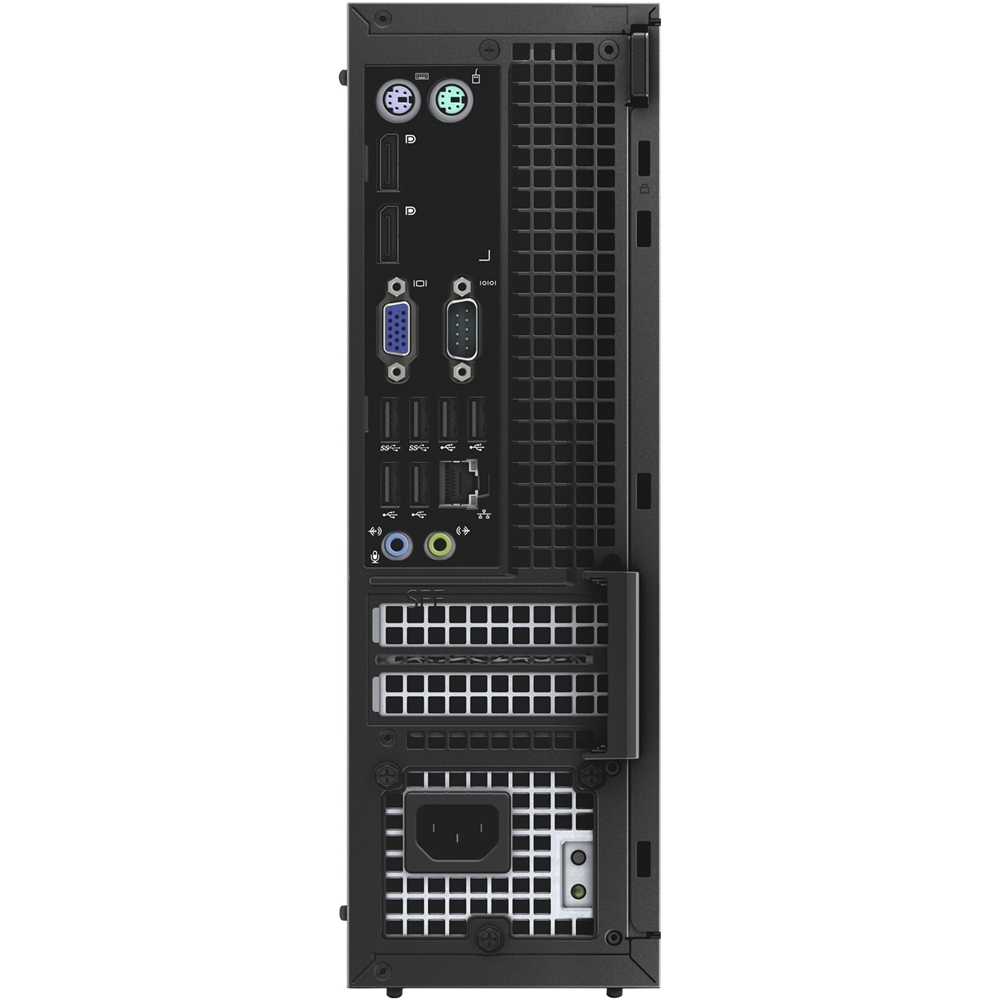 Back Zoom. Dell - Refurbished OptiPlex Desktop - Intel Core i7 - 16GB Memory - 480GB SSD - Black/Silver.