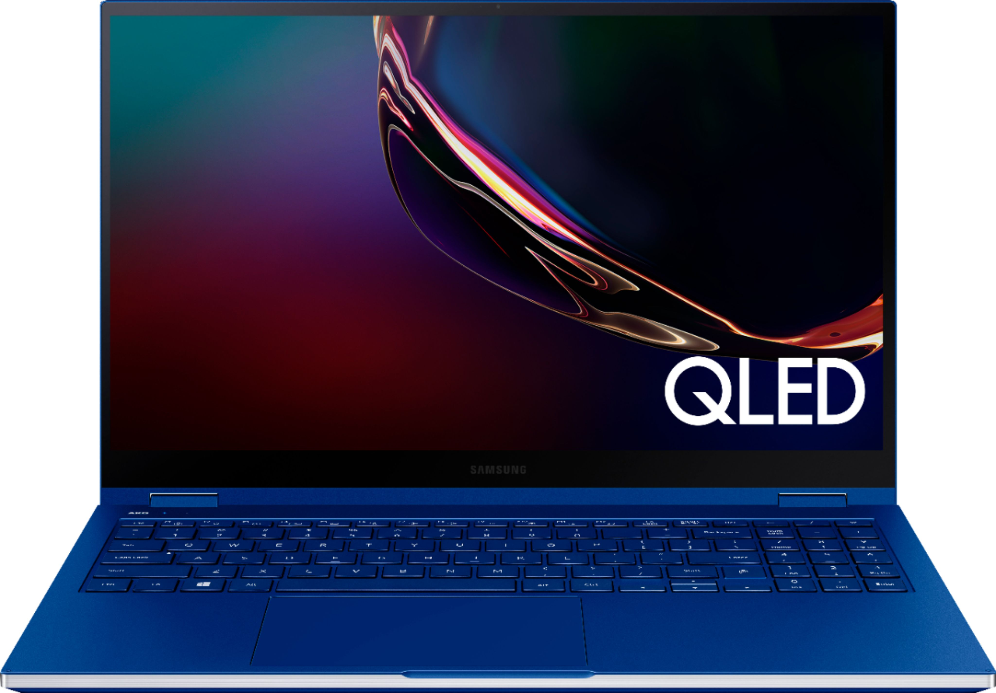 """Angle Zoom. Samsung - Galaxy Book Flex 2-in-1 15.6"""" QLED Touch-Screen Laptop - Intel Core i7 - 12GB Memory - 512GB SSD - Royal Blue."""