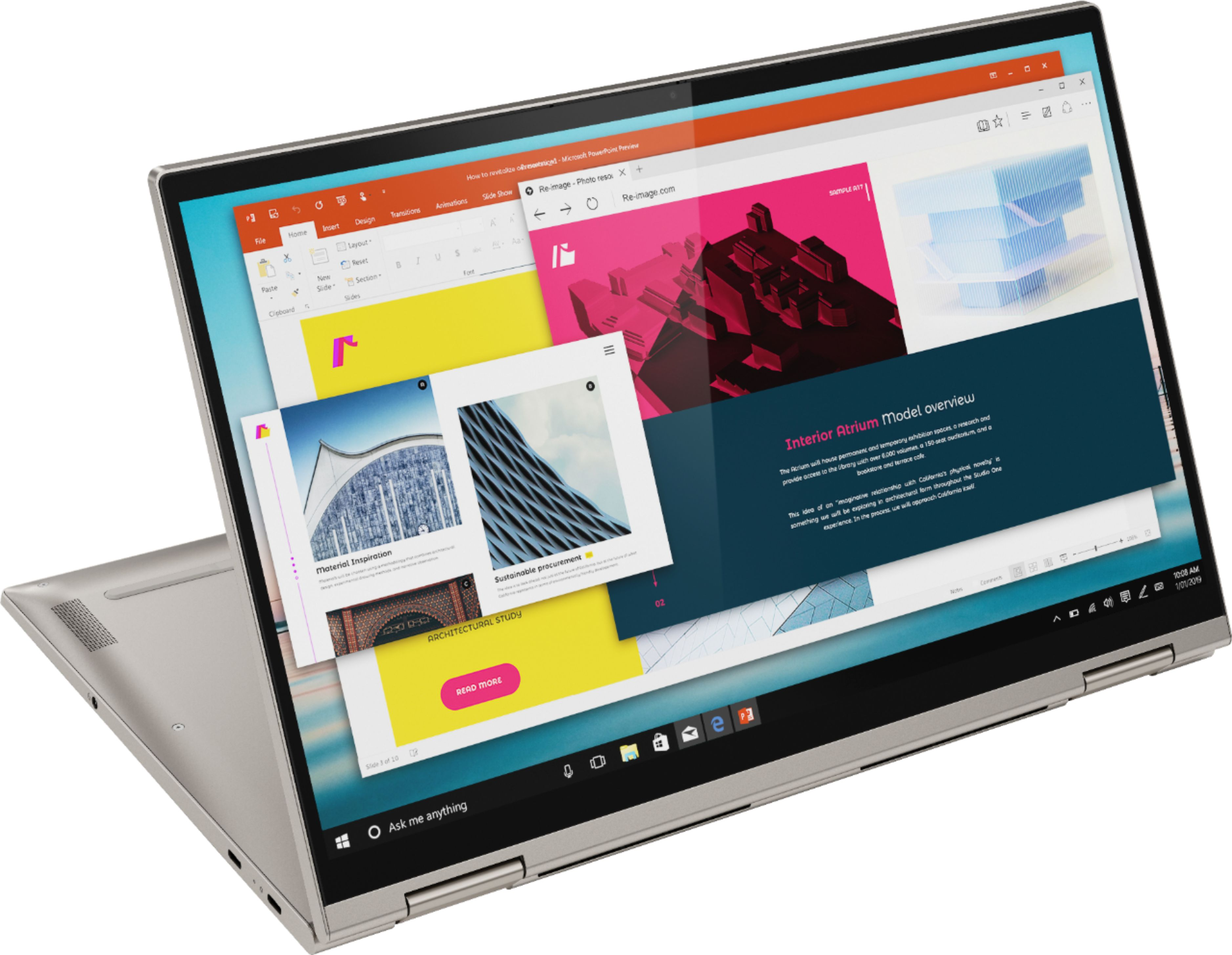 "Angle Zoom. Lenovo - Yoga C740 2-in-1 15.6"" Touch-Screen Laptop - Intel Core i7 - 12GB Memory - 512GB Solid State Drive - Mica."