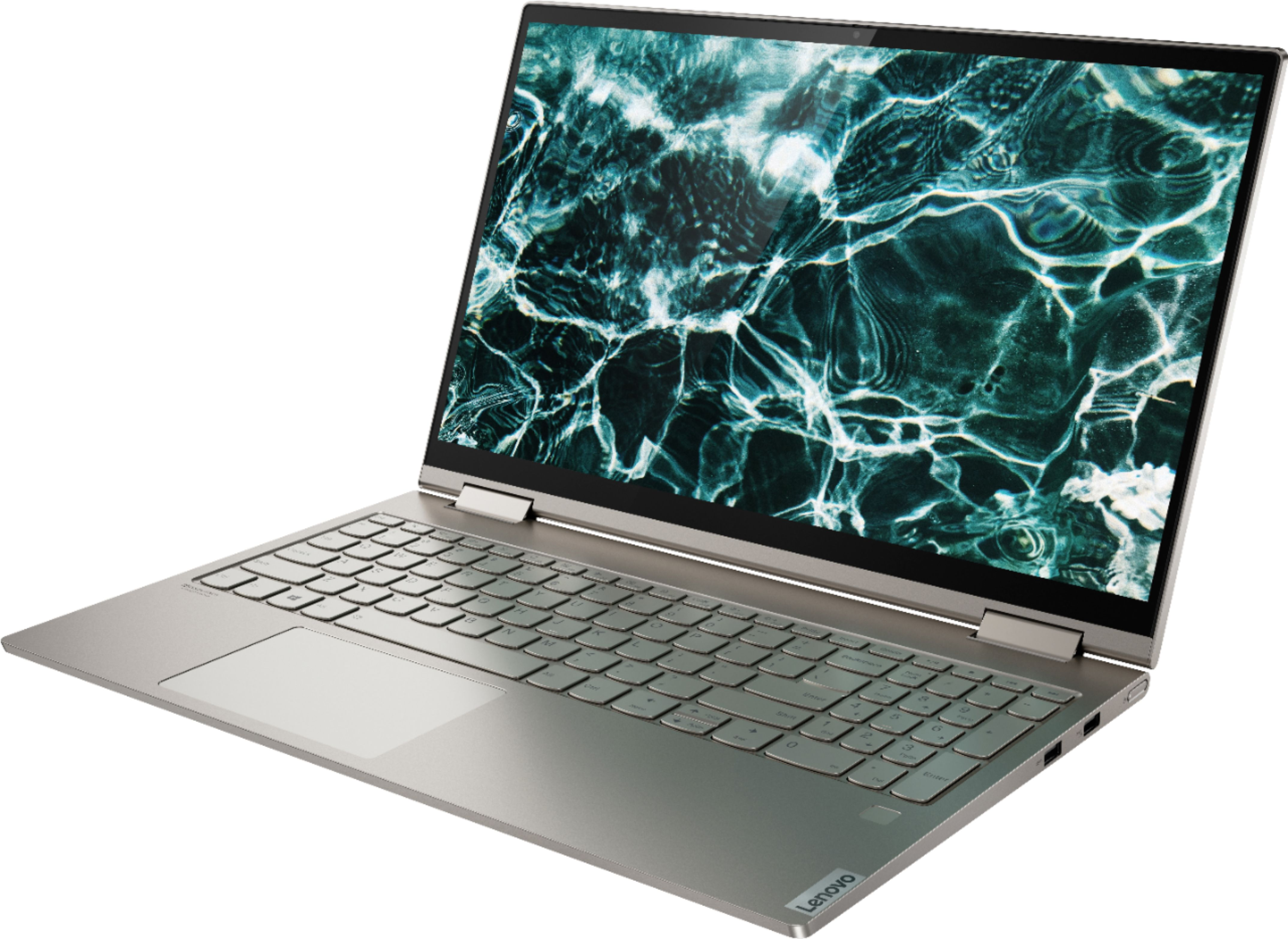 "Left Zoom. Lenovo - Yoga C740 2-in-1 15.6"" Touch-Screen Laptop - Intel Core i7 - 12GB Memory - 512GB Solid State Drive - Mica."