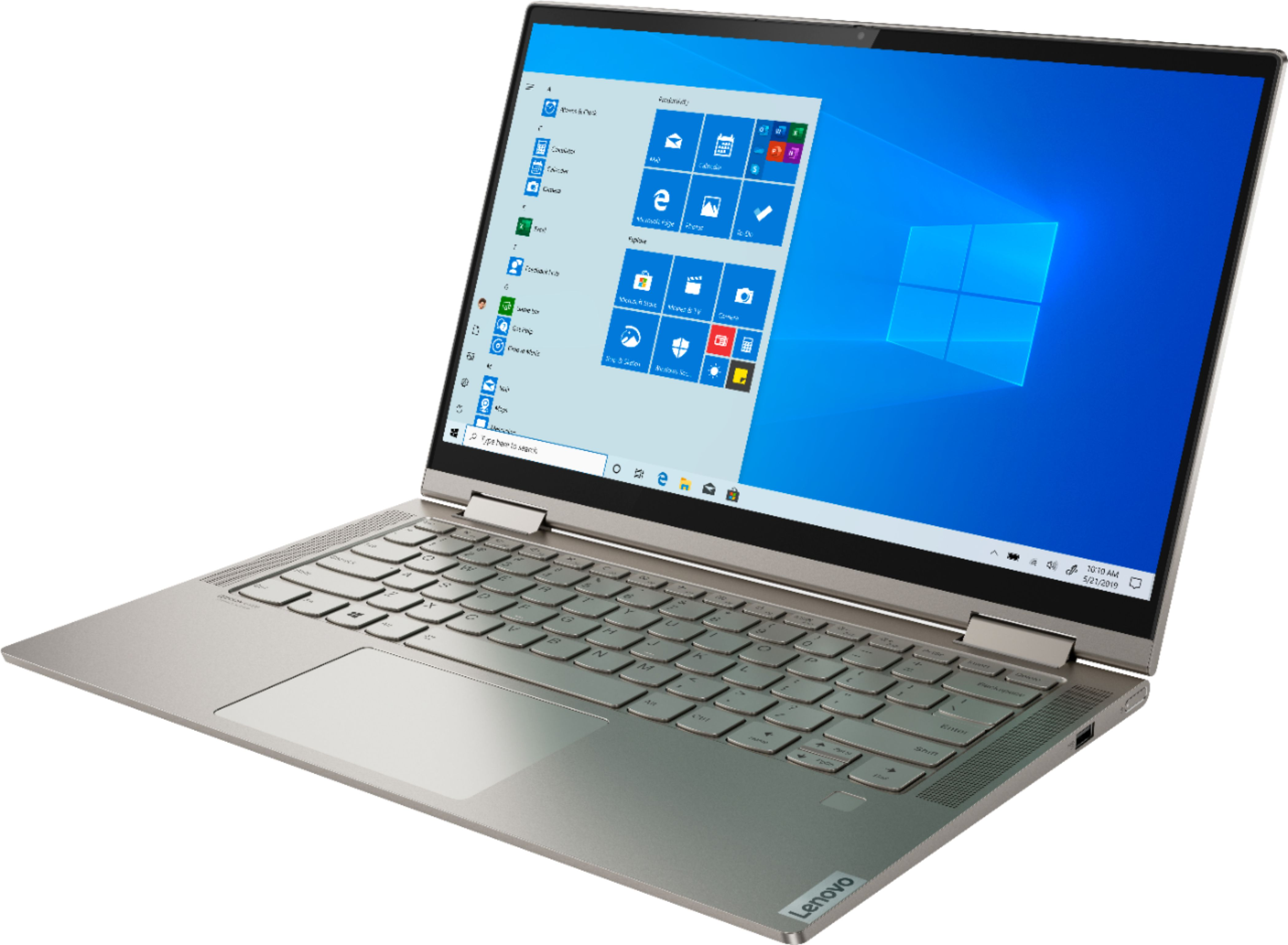 "Left Zoom. Lenovo - Yoga C740 2-in-1 14"" Touch-Screen Laptop - Intel Core i5 - 8GB Memory - 256GB Solid State Drive - Mica."