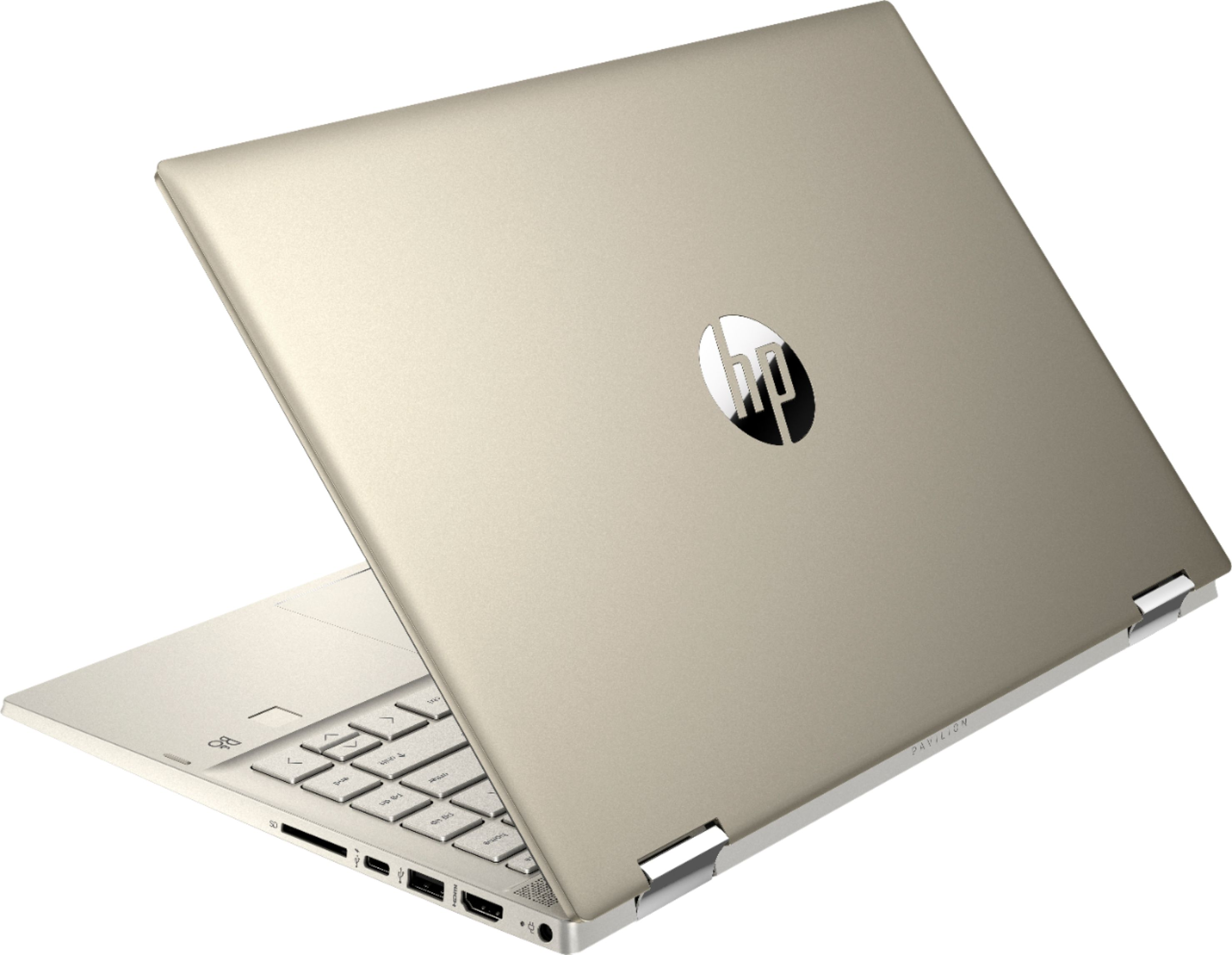 """Alt View Zoom 1. HP - Pavilion x360 2-in-1 14"""" Touch-Screen Laptop - Intel Core i5 - 8GB Memory - 256GB SSD - Luminous Gold."""