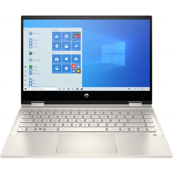 """HP - Pavilion x360 2-in-1 14"""" Touch-Screen Laptop - Intel Core i5 - 8GB Memory - 256GB SSD - Luminous Gold"""