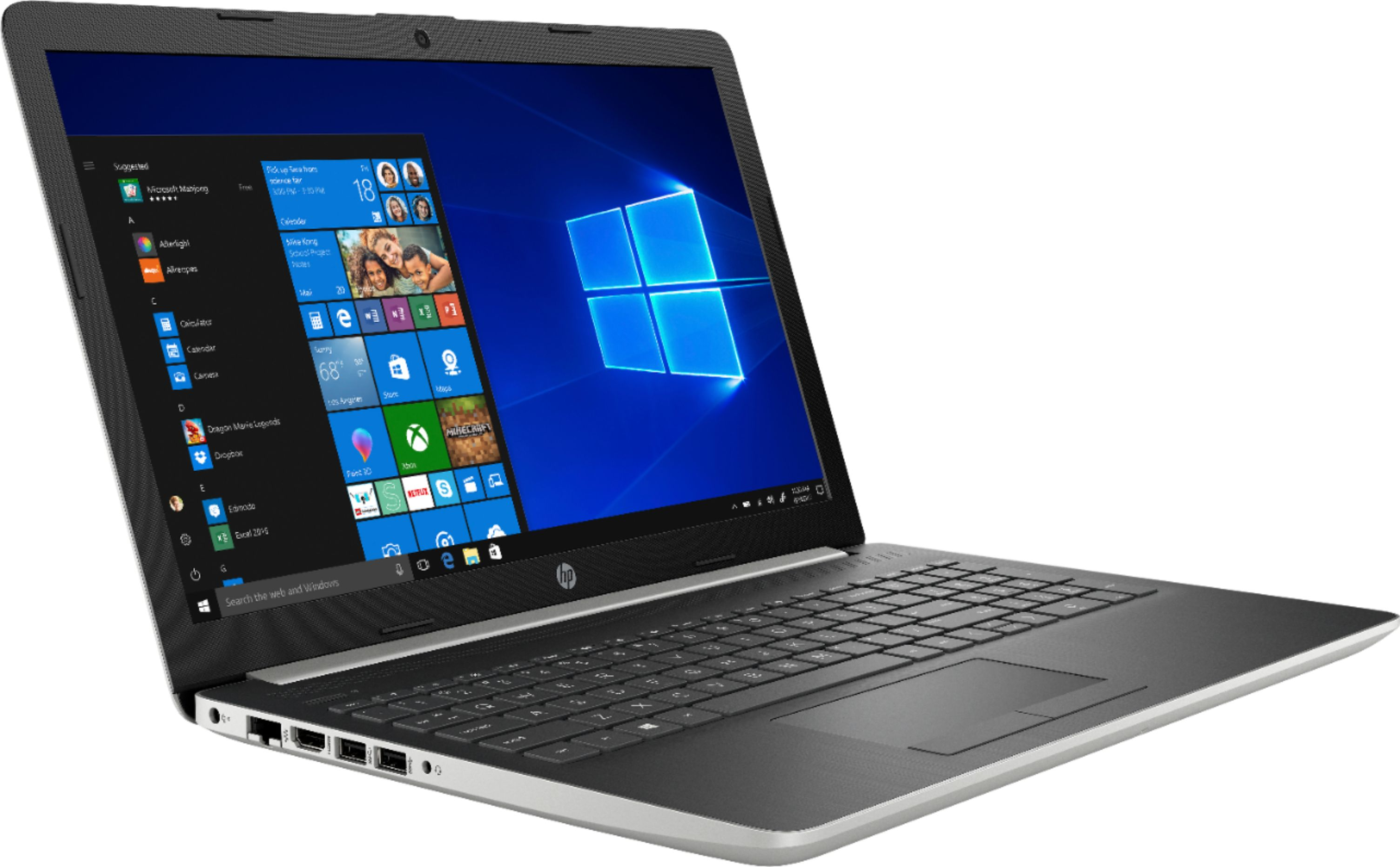 """Angle Zoom. HP - 15.6"""" Touch-Screen Laptop - Core i7 - 12GB Memory - 512GB SSD - Natural silver."""