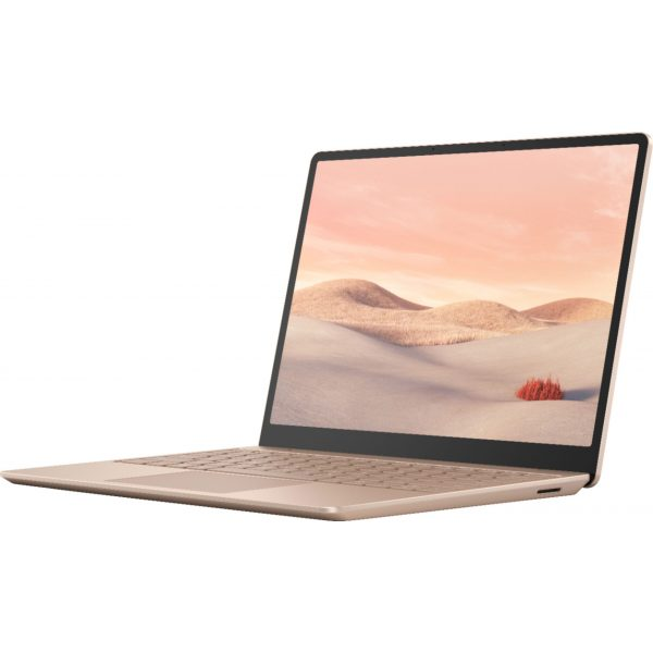 """Microsoft - Surface Laptop Go - 12.4"""" Touch-Screen - Intel 10th Generation Core i5 - 8GB Memory - 256GB Solid State Drive - Sandstone"""