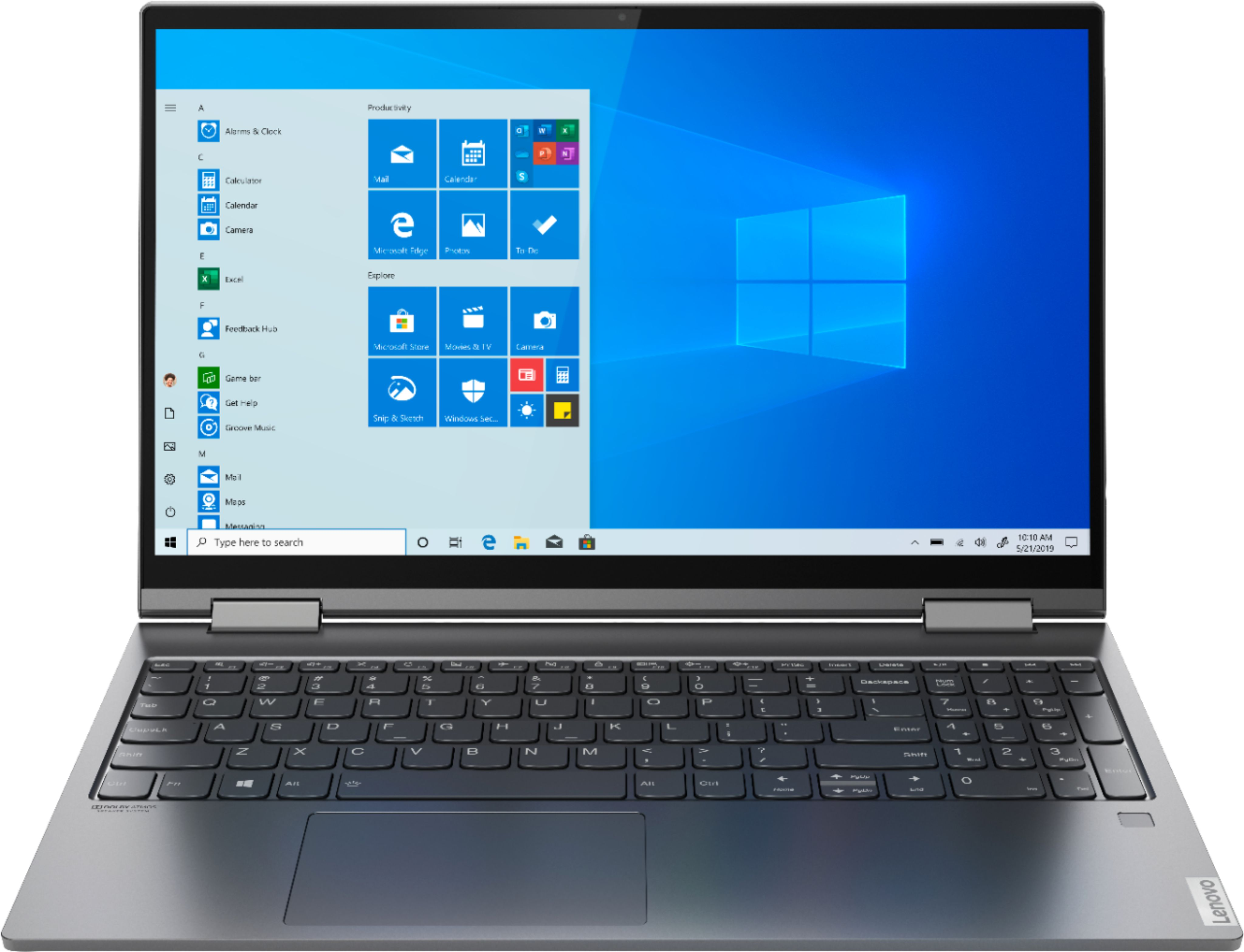 """Front Zoom. Lenovo - Yoga C740 2-in-1 15.6"""" Touch-Screen Laptop - Intel Core i5 - 12GB Memory - 256GB Solid State Drive - Iron Gray."""