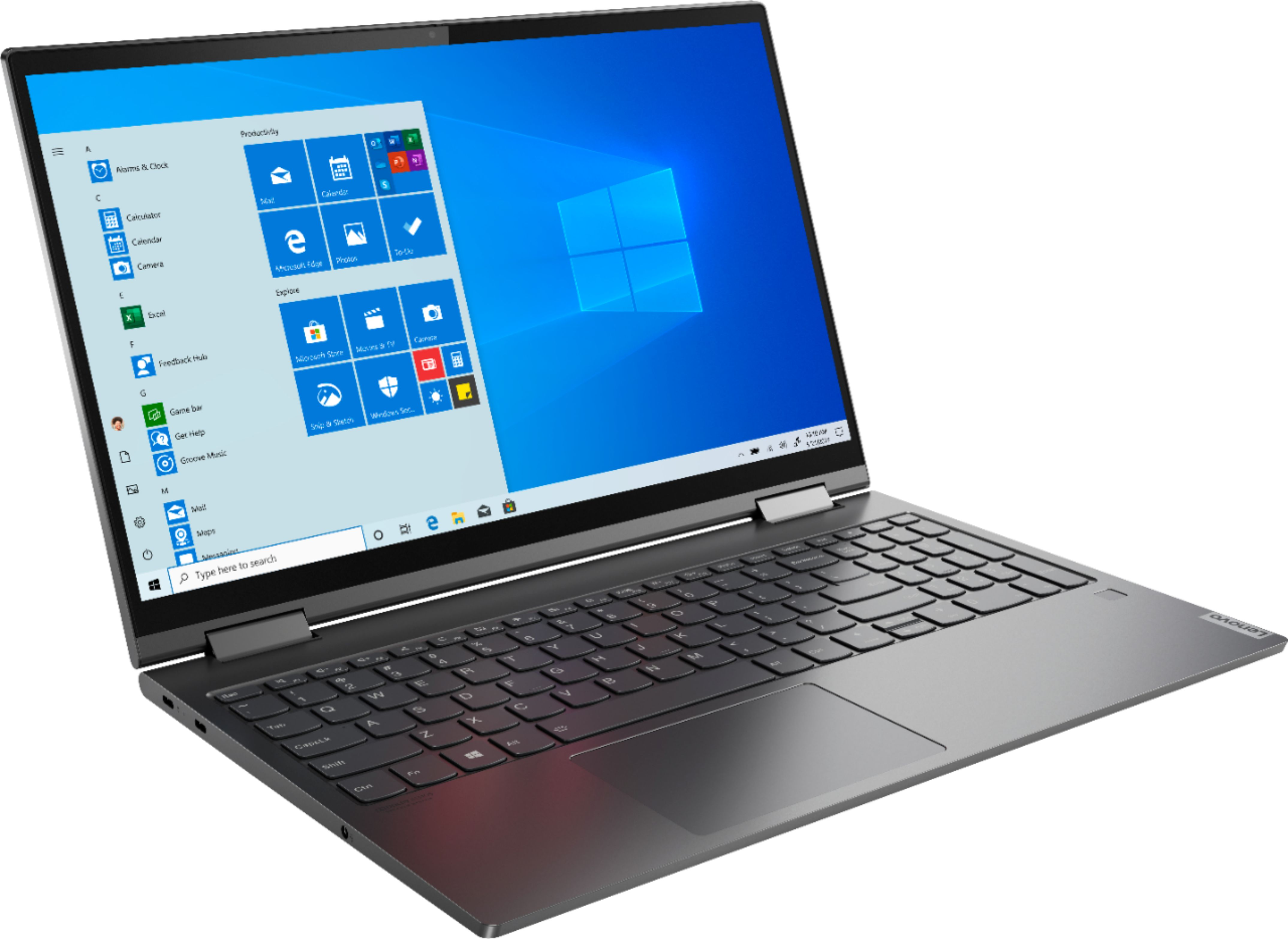 """Angle Zoom. Lenovo - Yoga C740 2-in-1 15.6"""" Touch-Screen Laptop - Intel Core i5 - 12GB Memory - 256GB Solid State Drive - Iron Gray."""