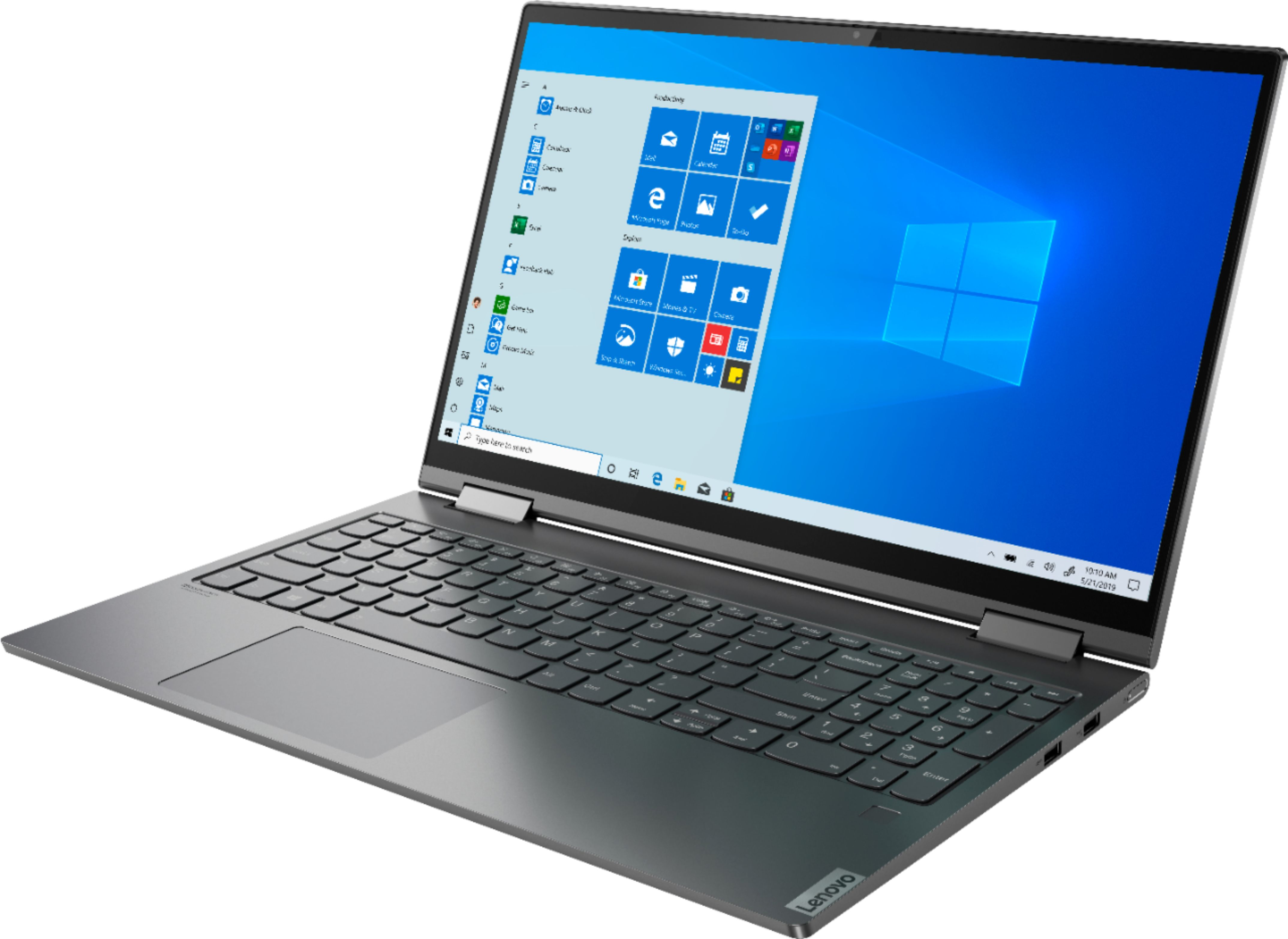 """Left Zoom. Lenovo - Yoga C740 2-in-1 15.6"""" Touch-Screen Laptop - Intel Core i5 - 12GB Memory - 256GB Solid State Drive - Iron Gray."""