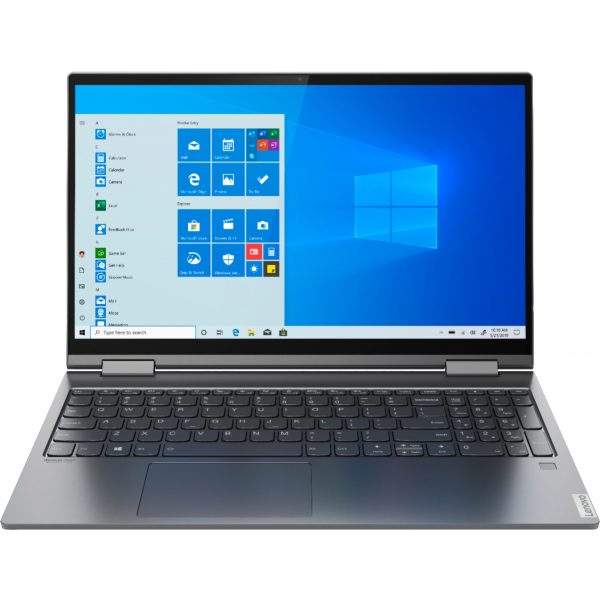 """Lenovo - Yoga C740 2-in-1 15.6"""" Touch-Screen Laptop - Intel Core i5 - 12GB Memory - 256GB Solid State Drive - Iron Gray"""