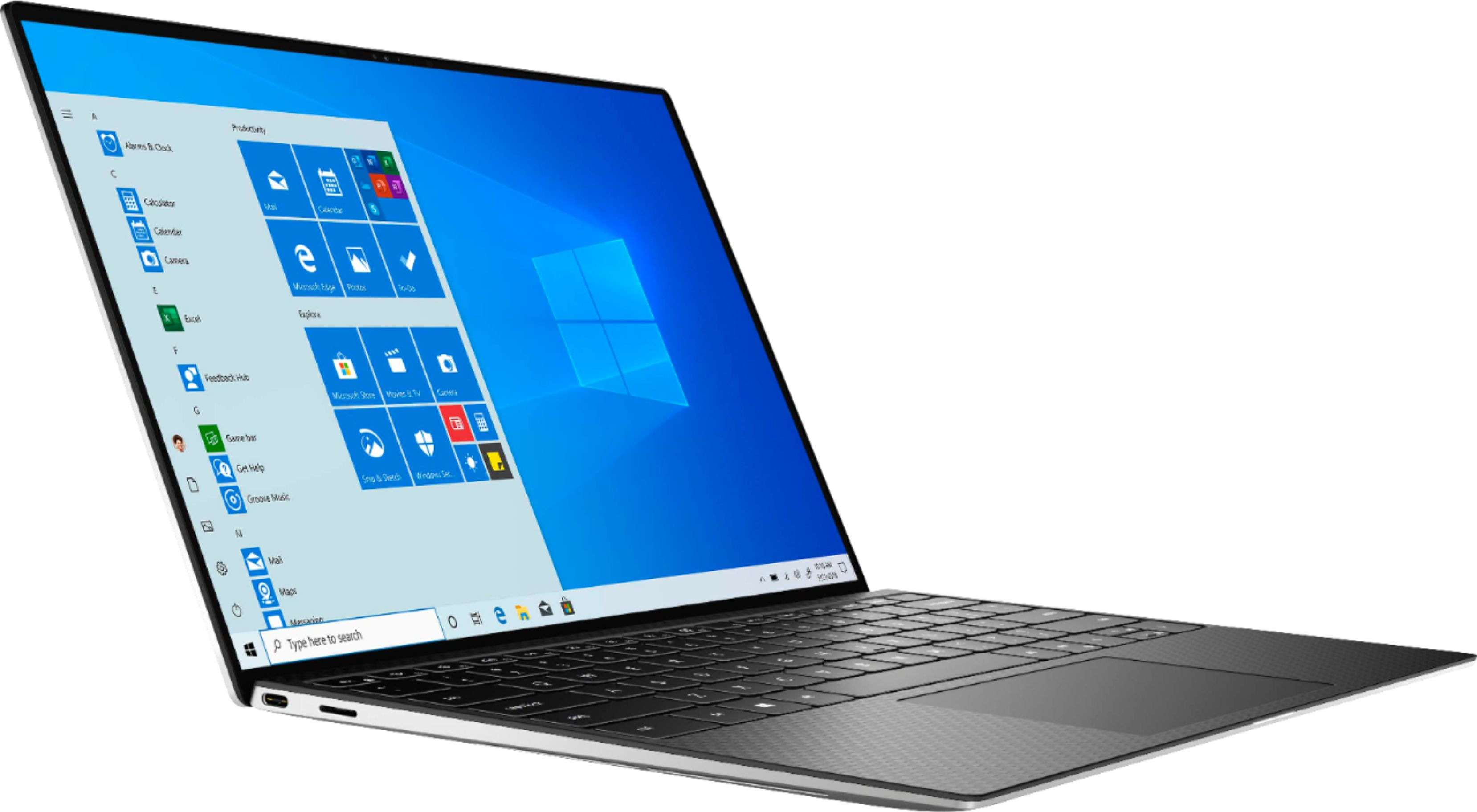 """Angle Zoom. Dell - XPS 13.4"""" FHD+ Touch Laptop - Engineered for Mobile Performance - Intel Core i7 - 8GB Memory - 512GB SSD - Platinum Silver."""